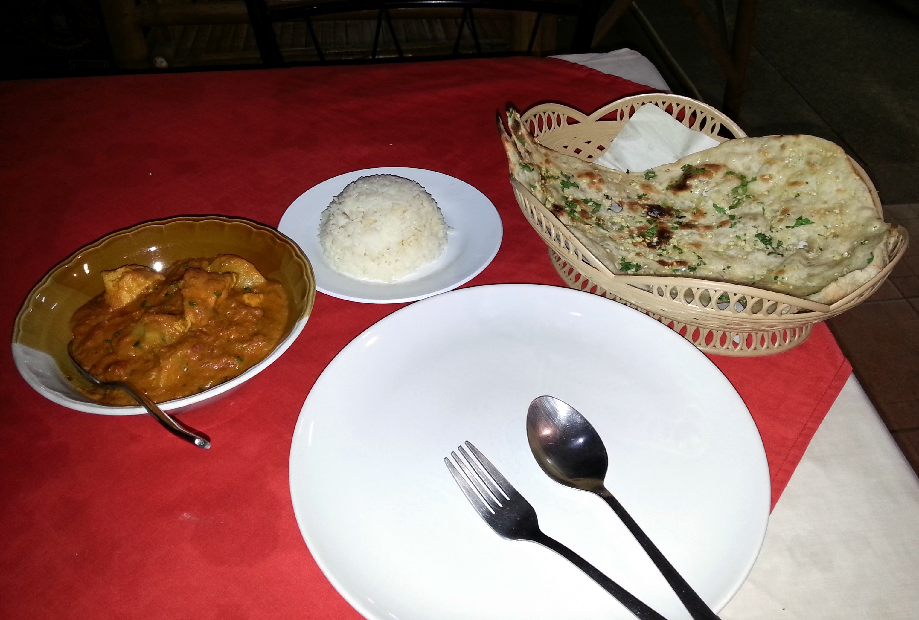 Chicken vindaloo at Maharaja Restaurant
