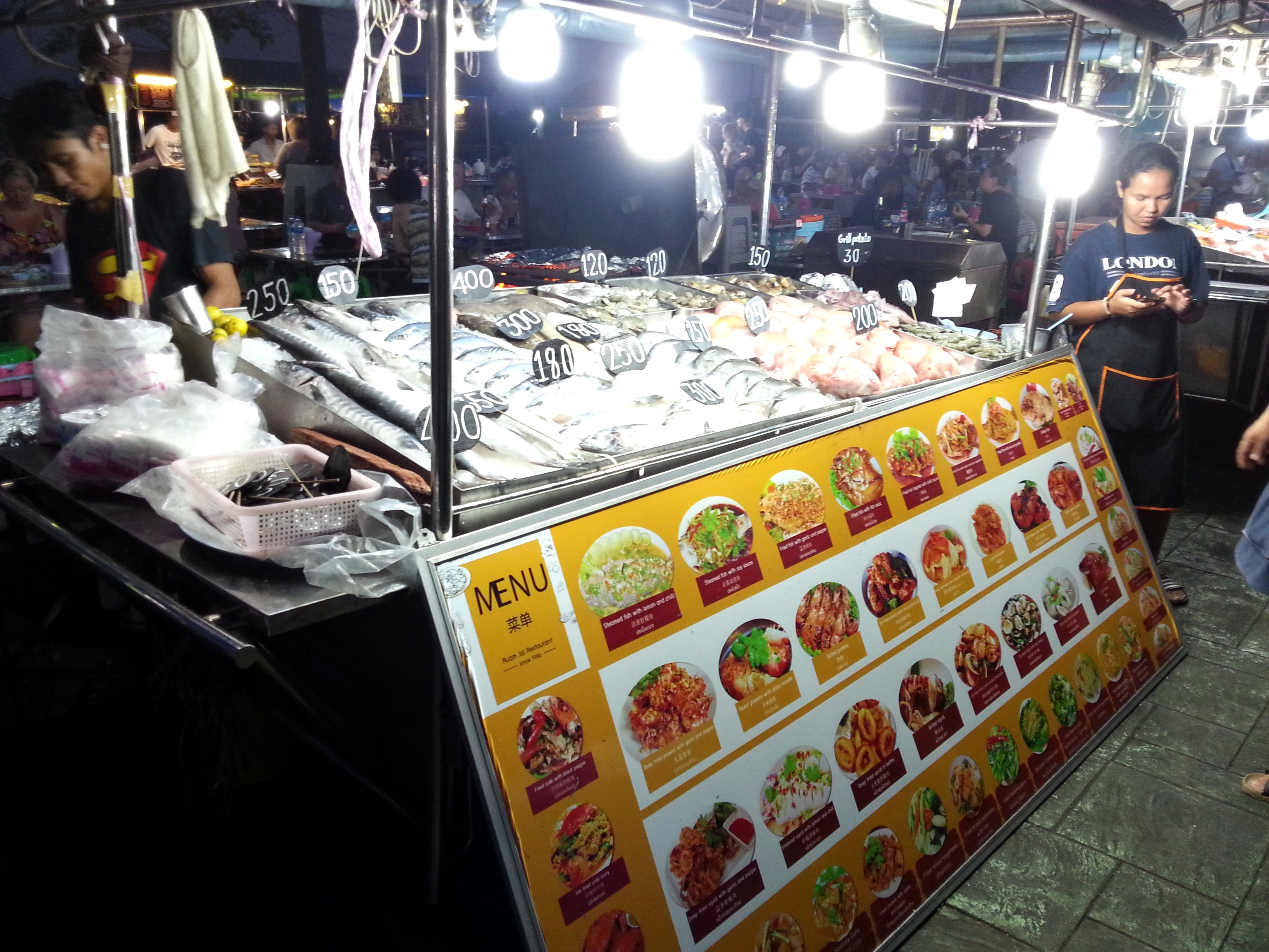 Fish stall at Krabi Night Market