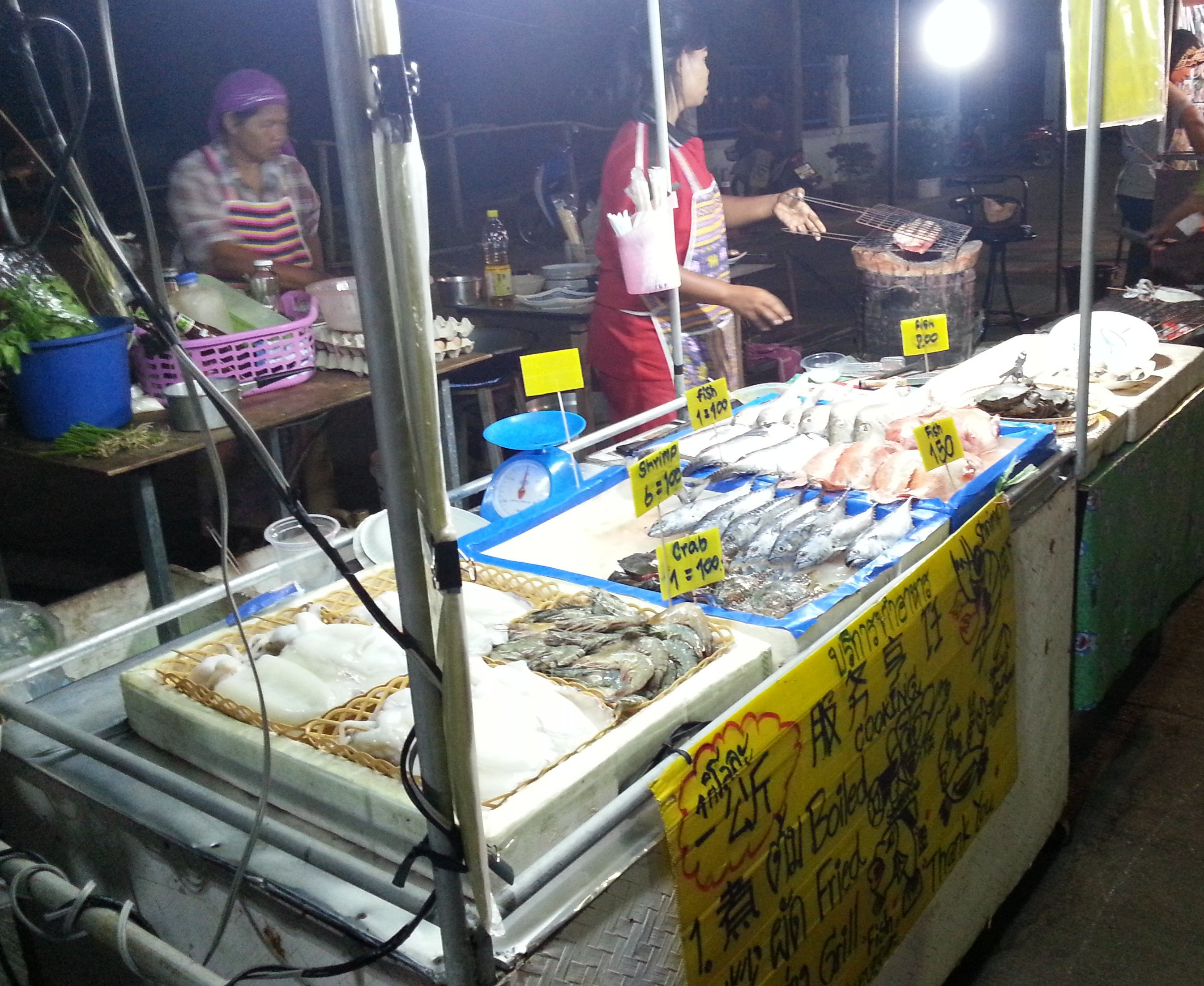 Fish stall at Saladan Walking Street