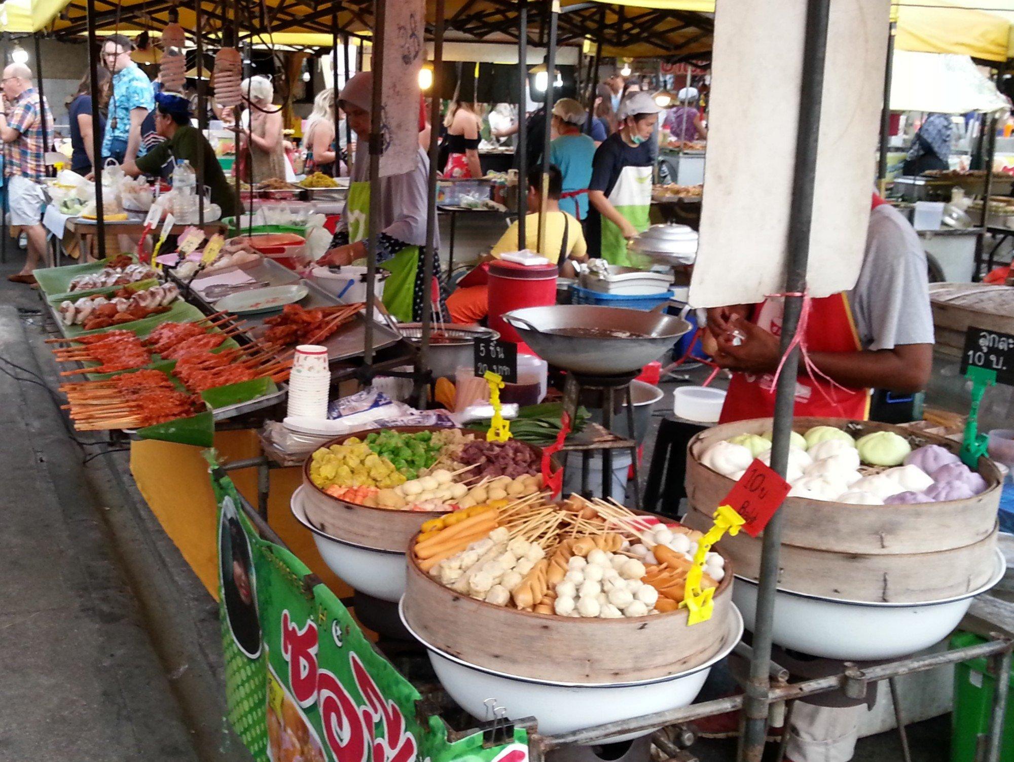 Food stall at Krabi Town Walking Street