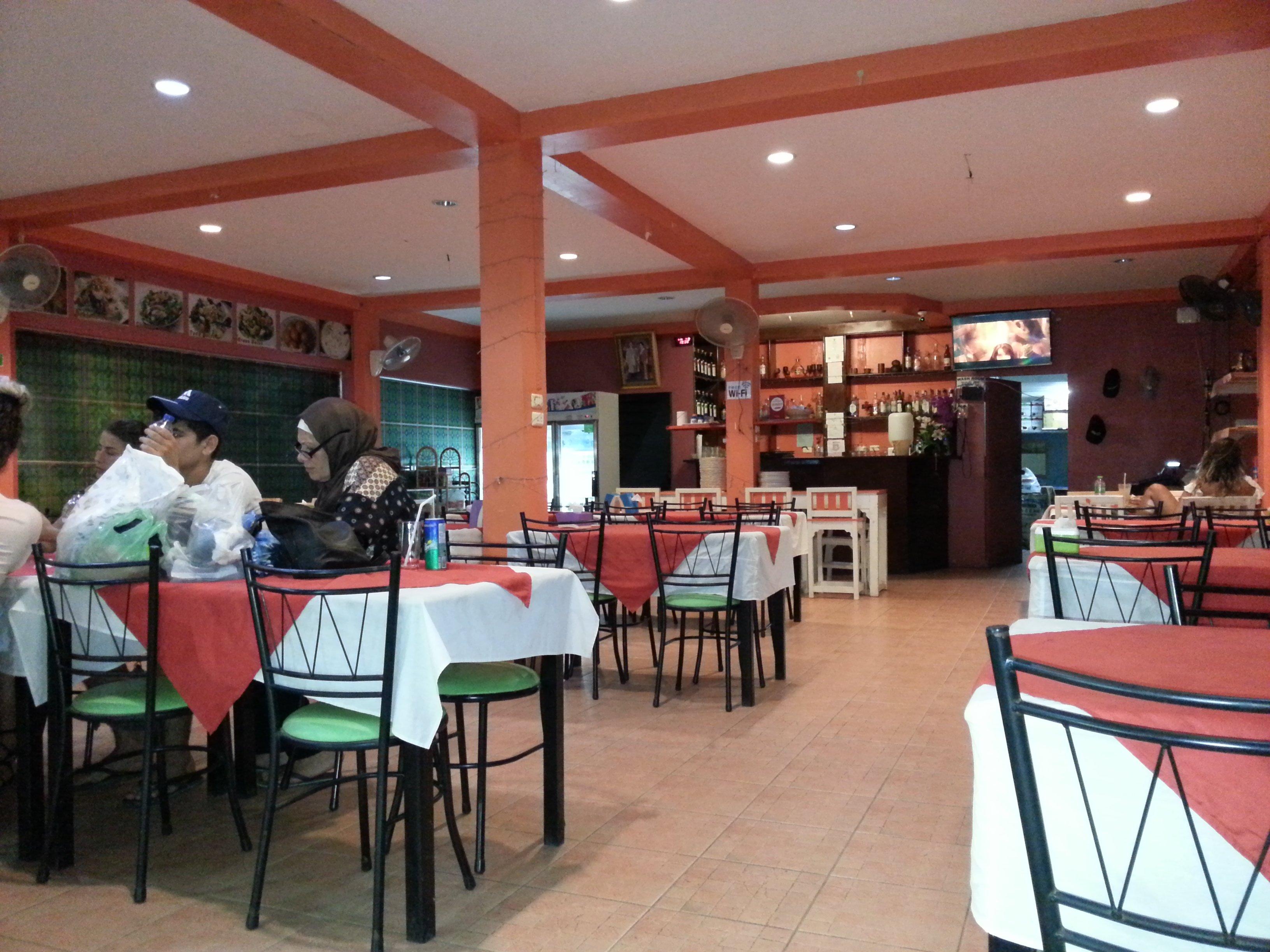 Inside the Maharaja Restaurant