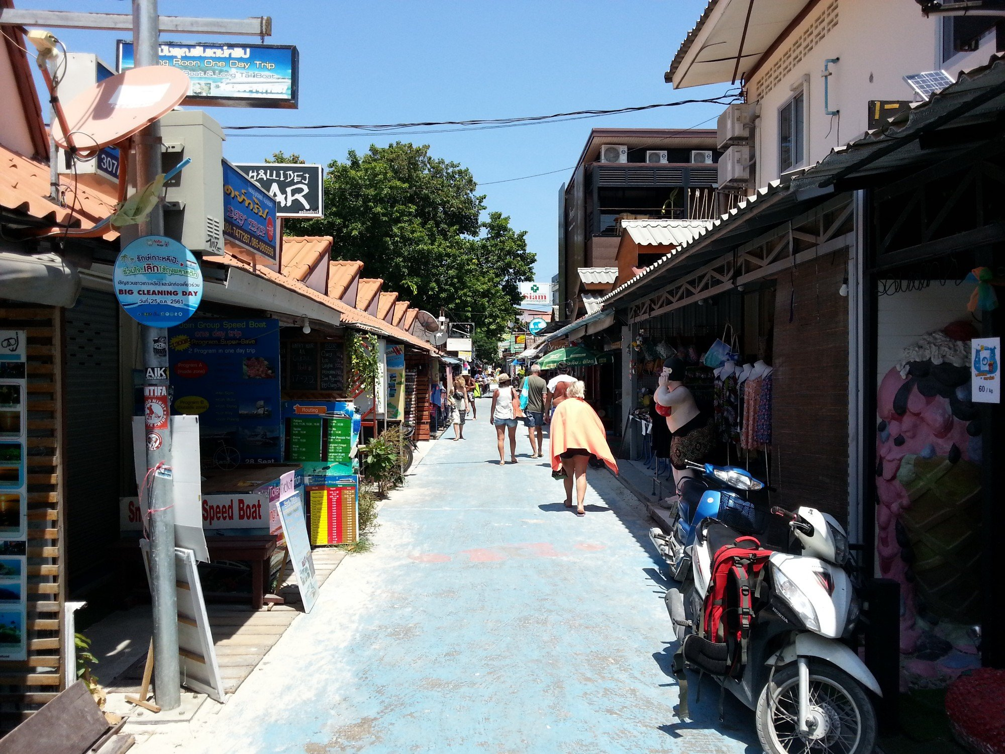 Koh Lipe Walking Street in the daytime