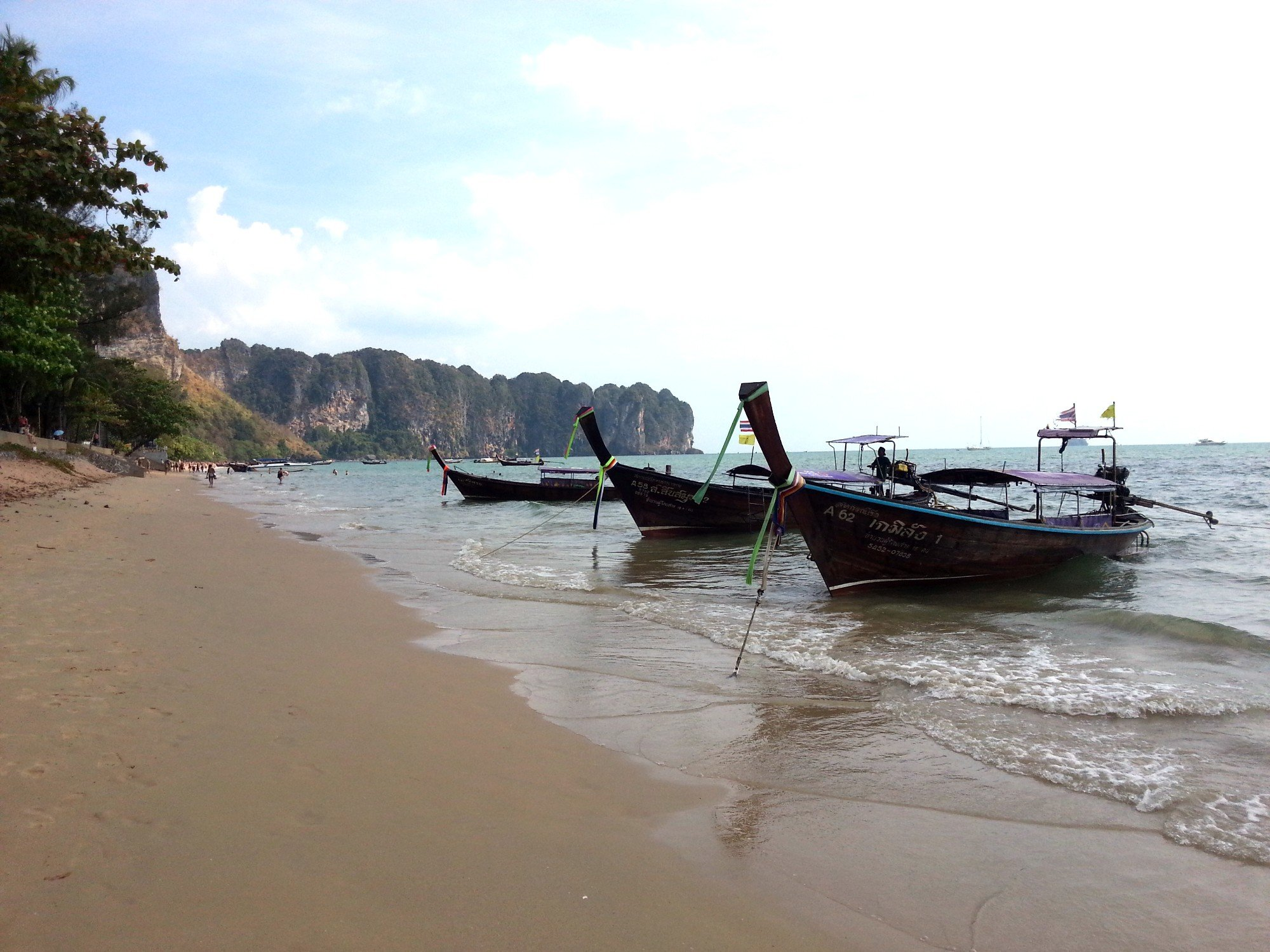 Long tail boats on Ao Nang Beach
