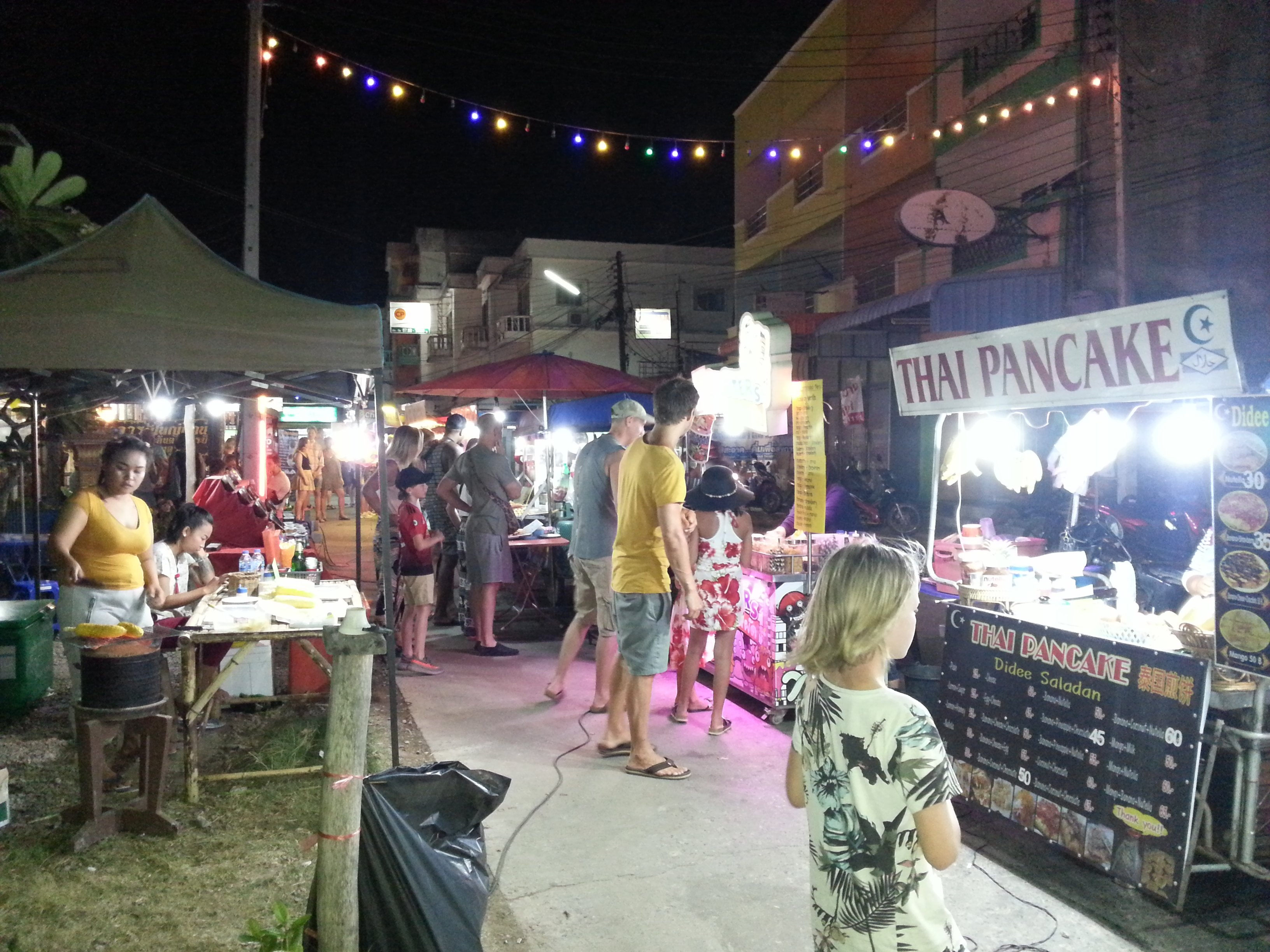 Pancakes and sweetcorn at Saladan Walking Street
