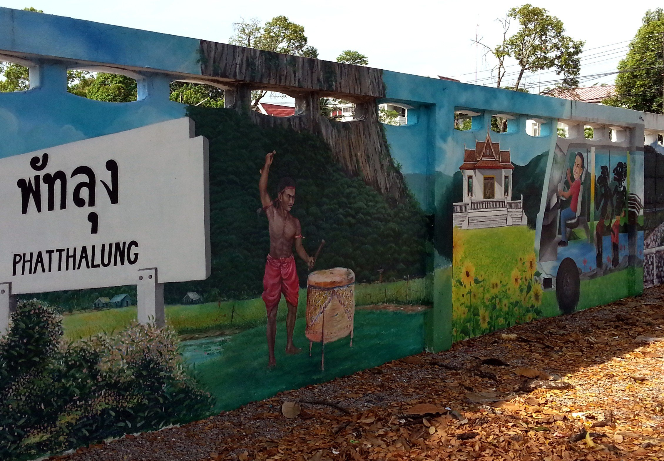 Phatthalung street art is heavily influenced by Southern Thai culture