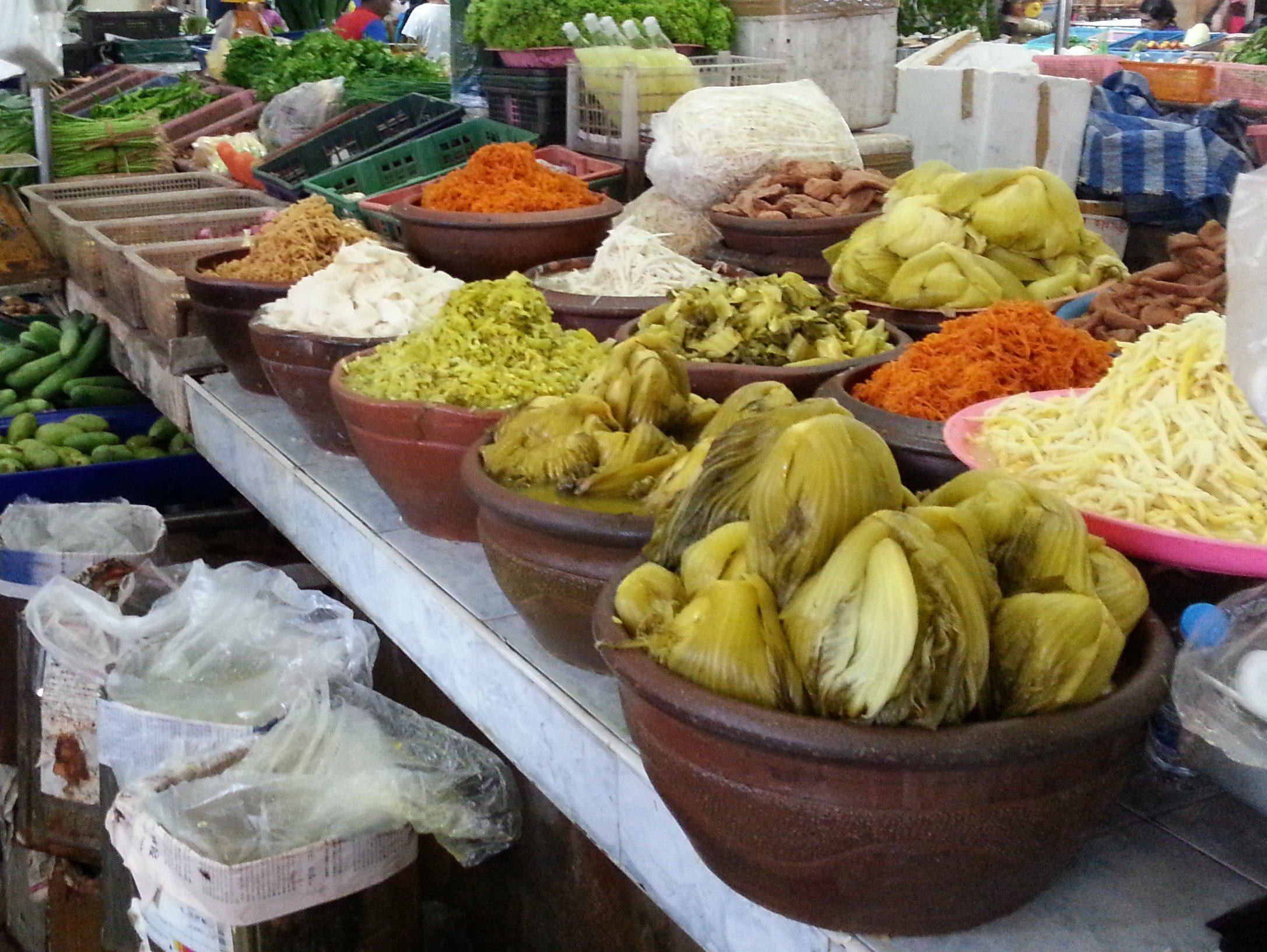 Pickled vegetables at Maharaj Food Market