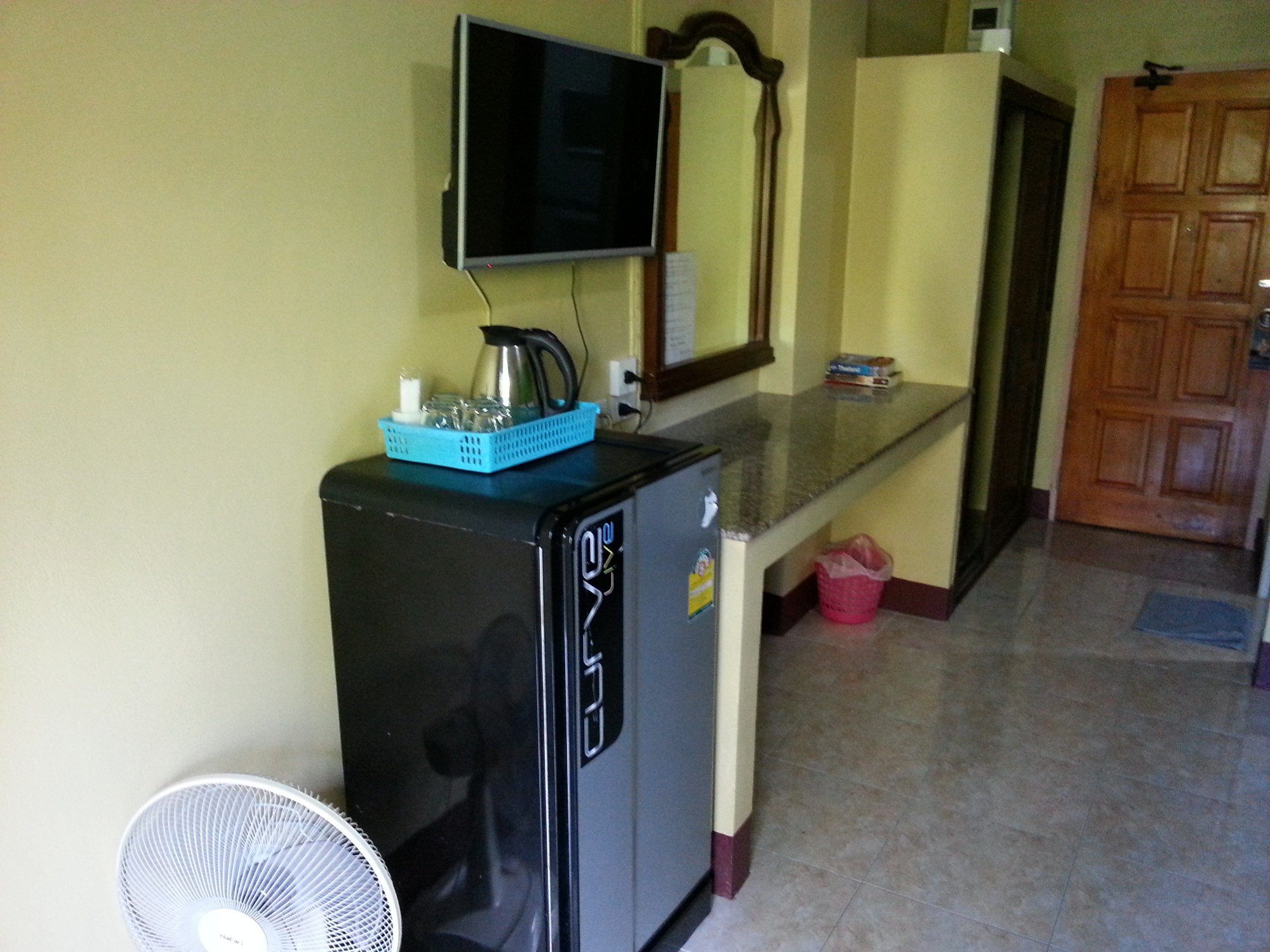 Room facilities at the Ban Punmanus Guesthouse
