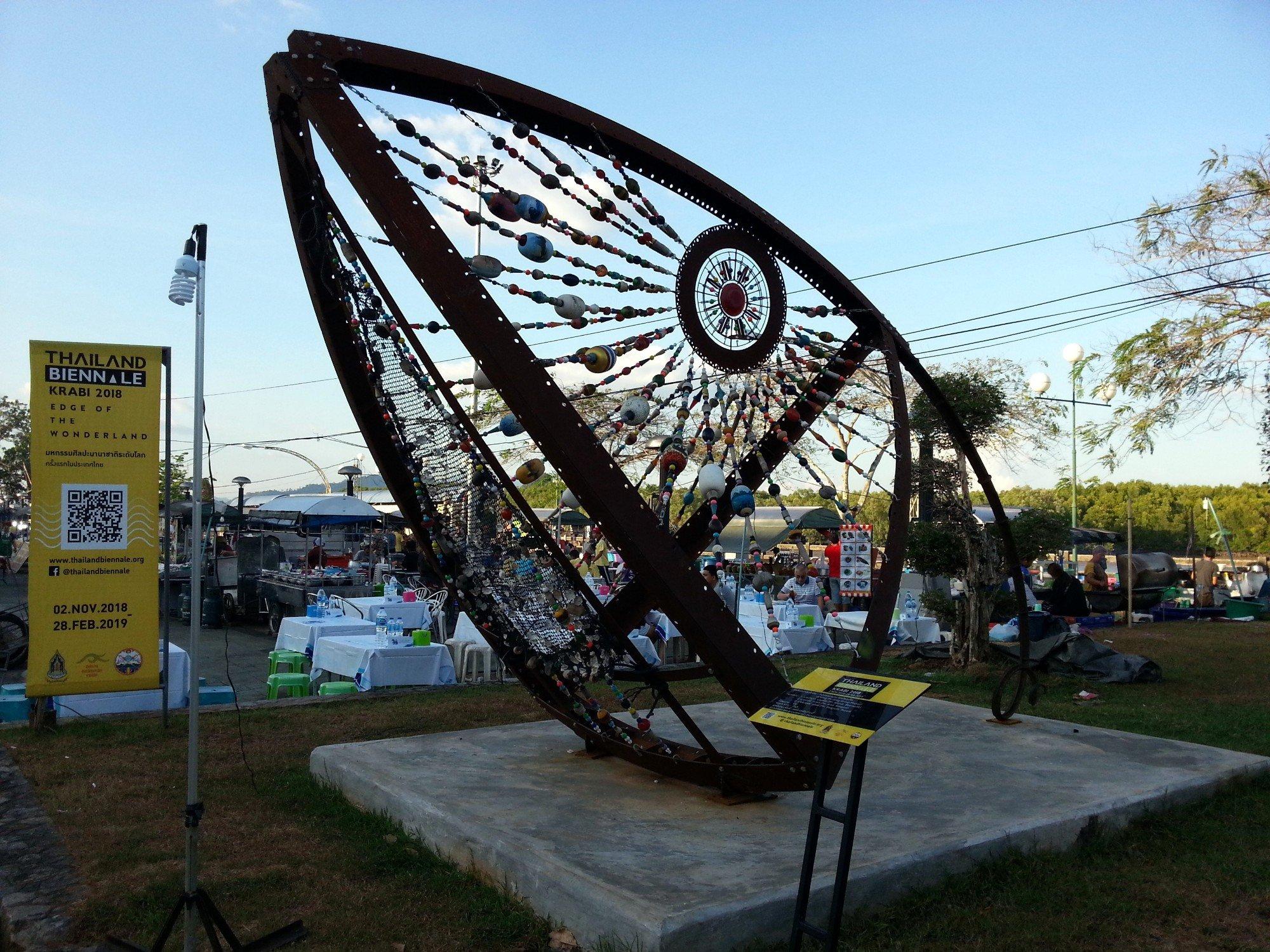 Sculpture in front of Krabi Night Market
