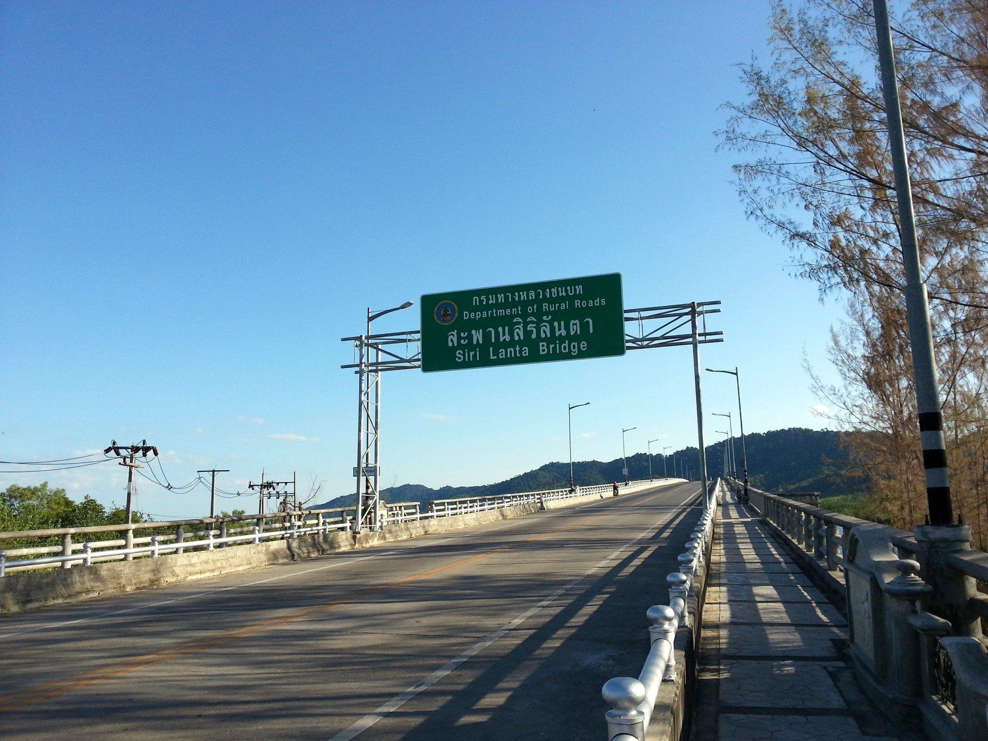 Siri Lanta Bridge in Koh Lanta