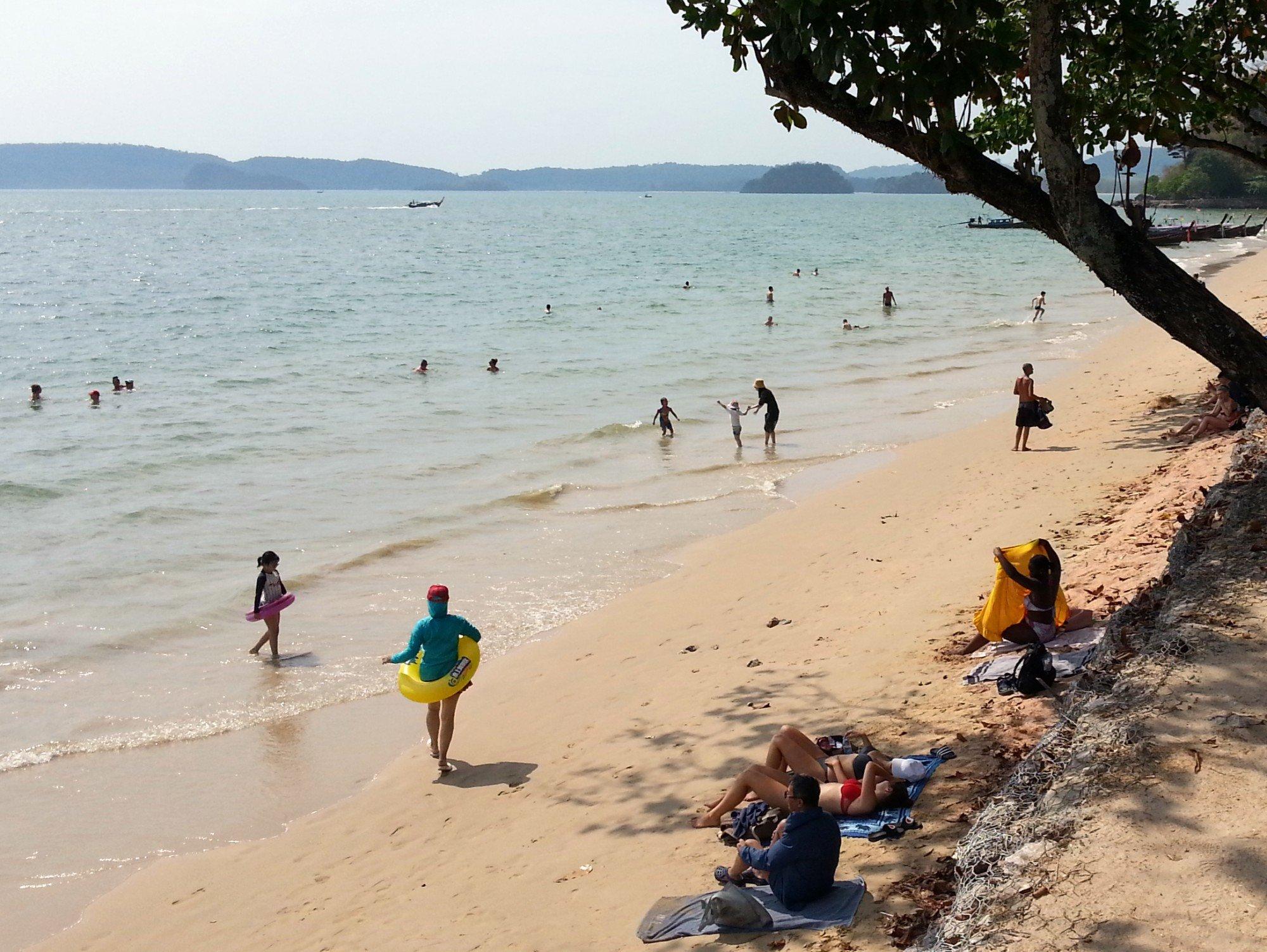 Swimmers on Ao Nang Beach