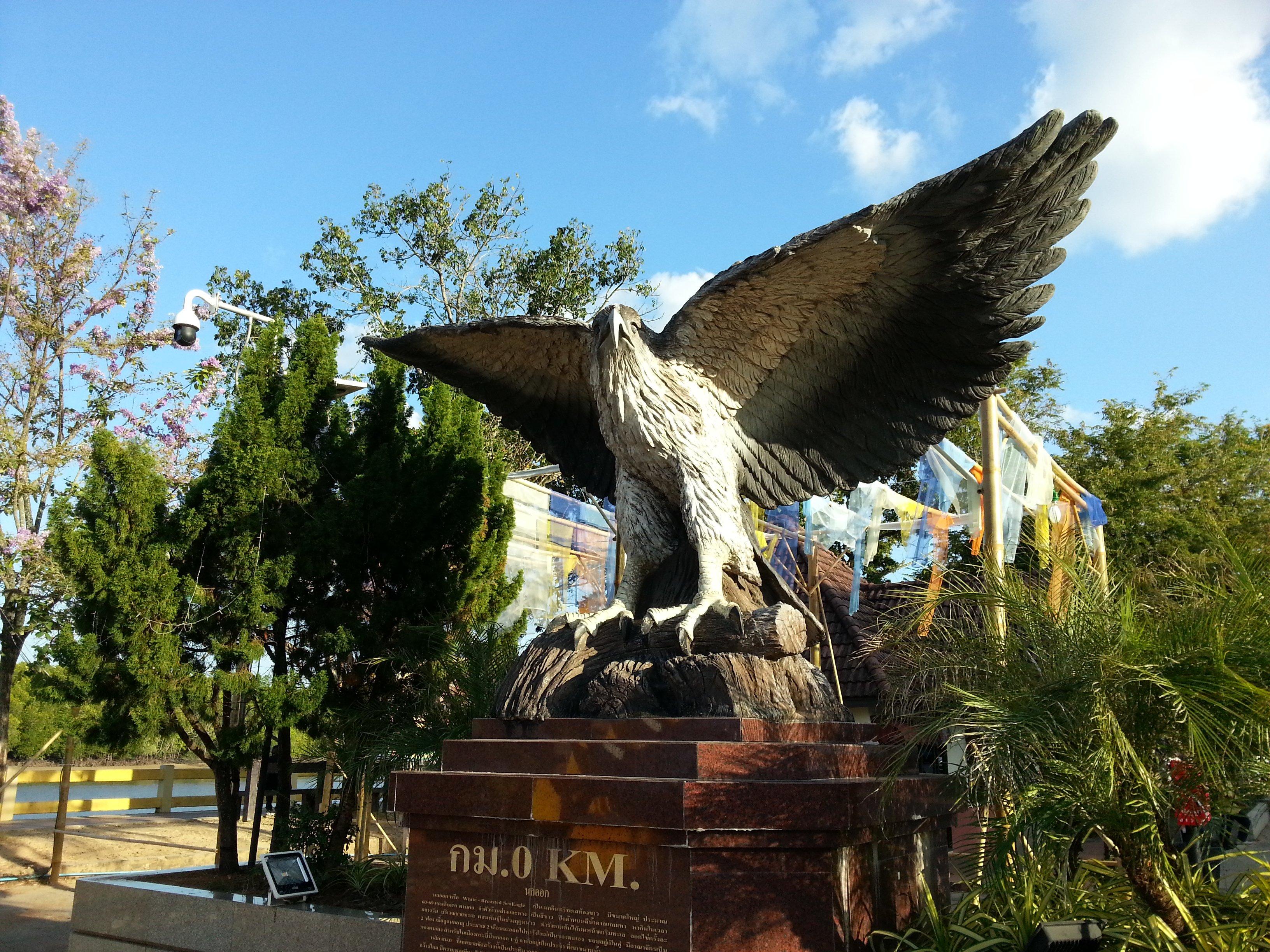 The sea eagle is the symbol of Krabi Municipality