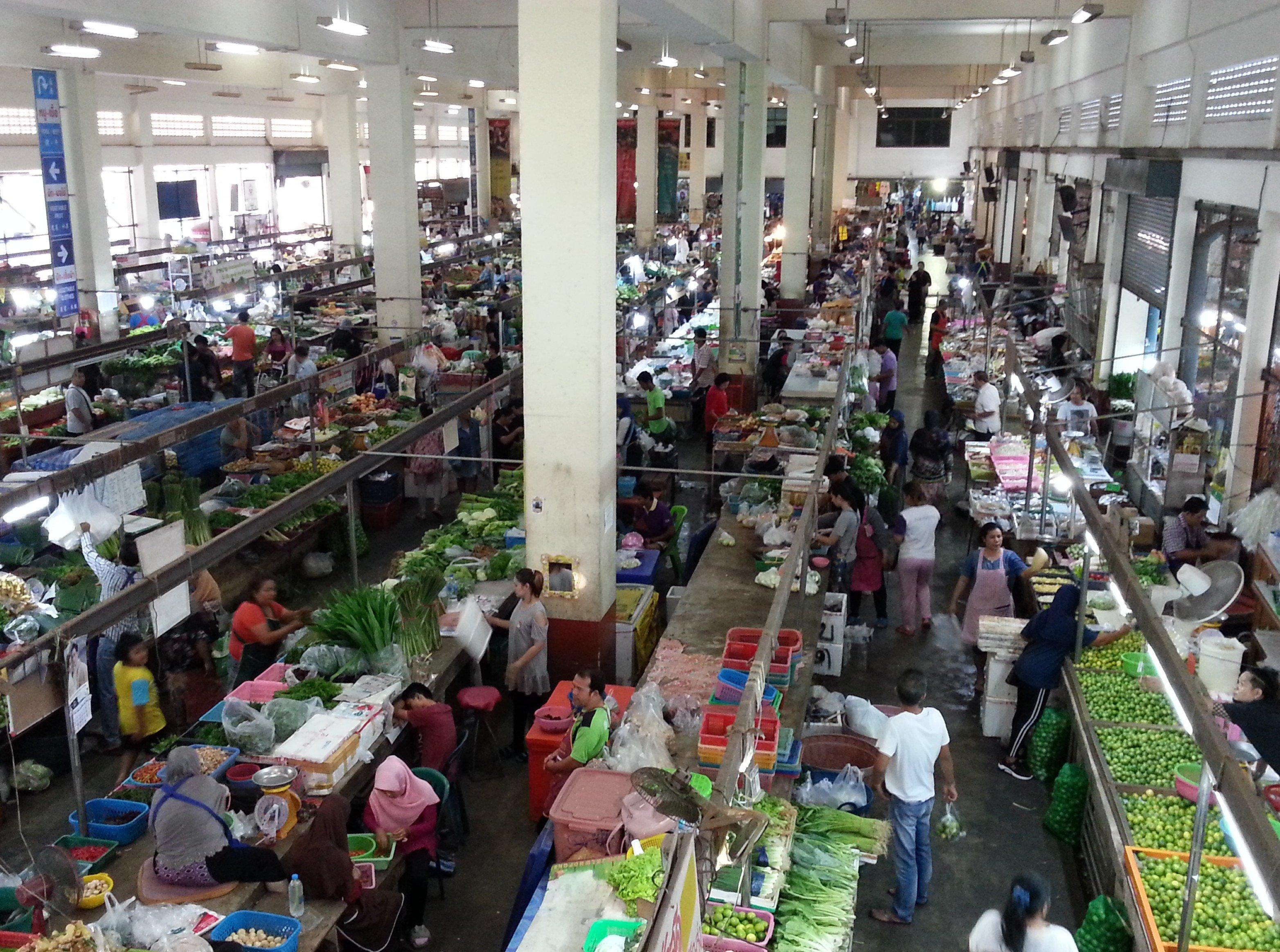 Vegetable section of Maharaj Food Market