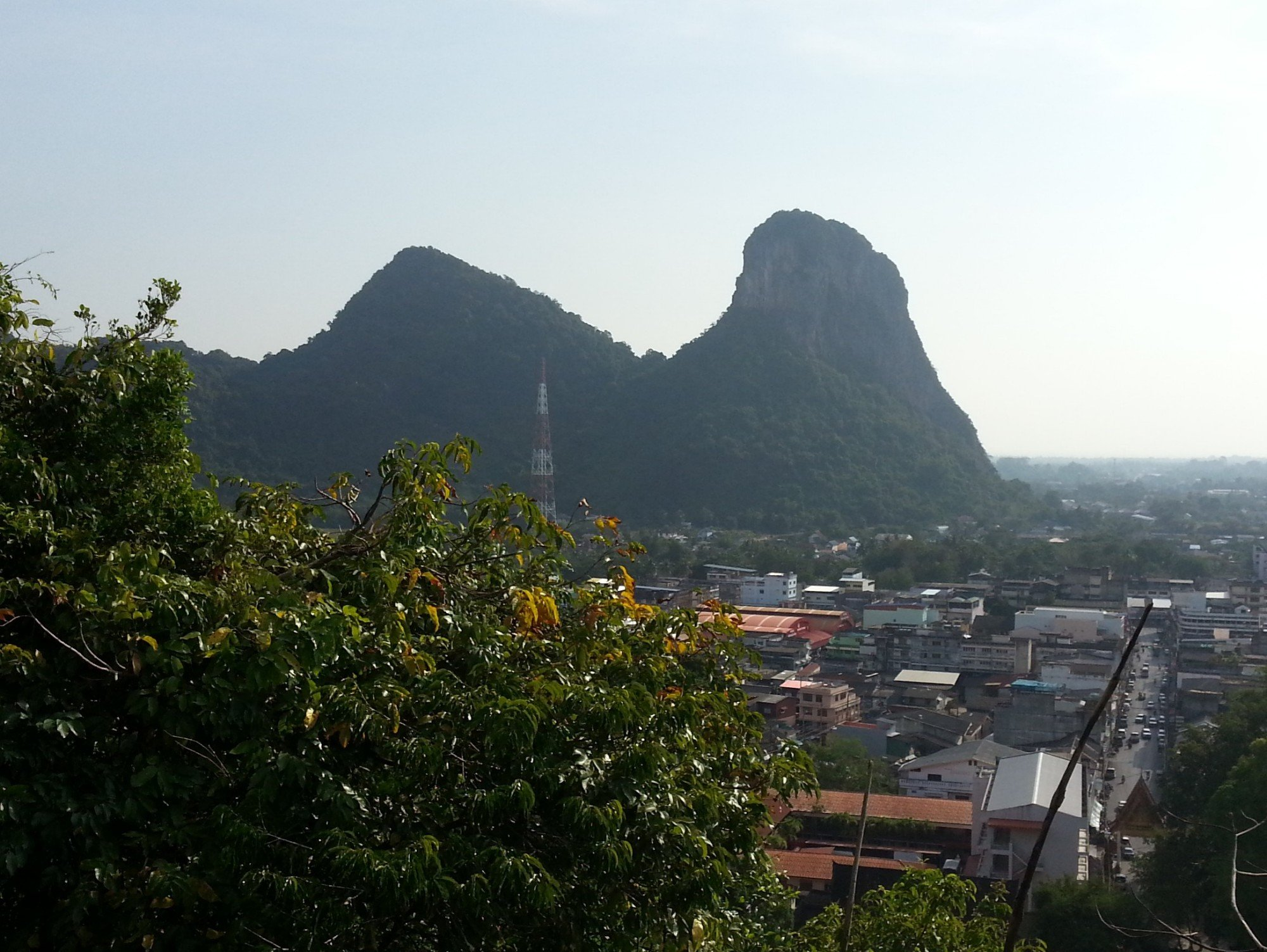 View of Khao Ok Thalu from Wat Khuha Sawan