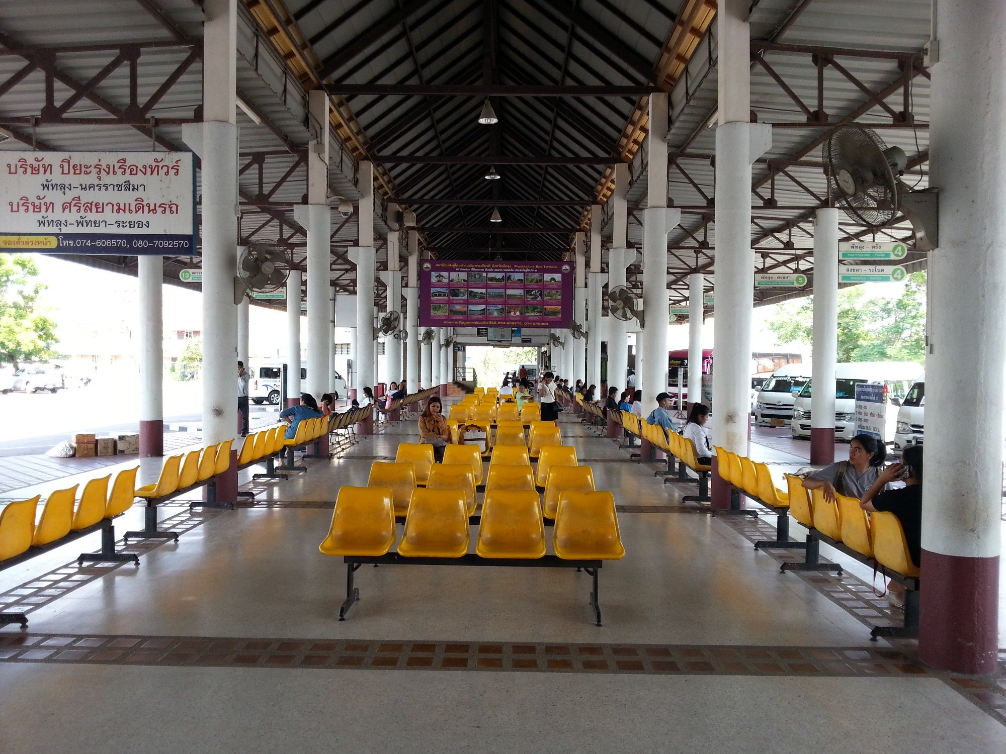 Waiting area at Phatthalung Bus Station