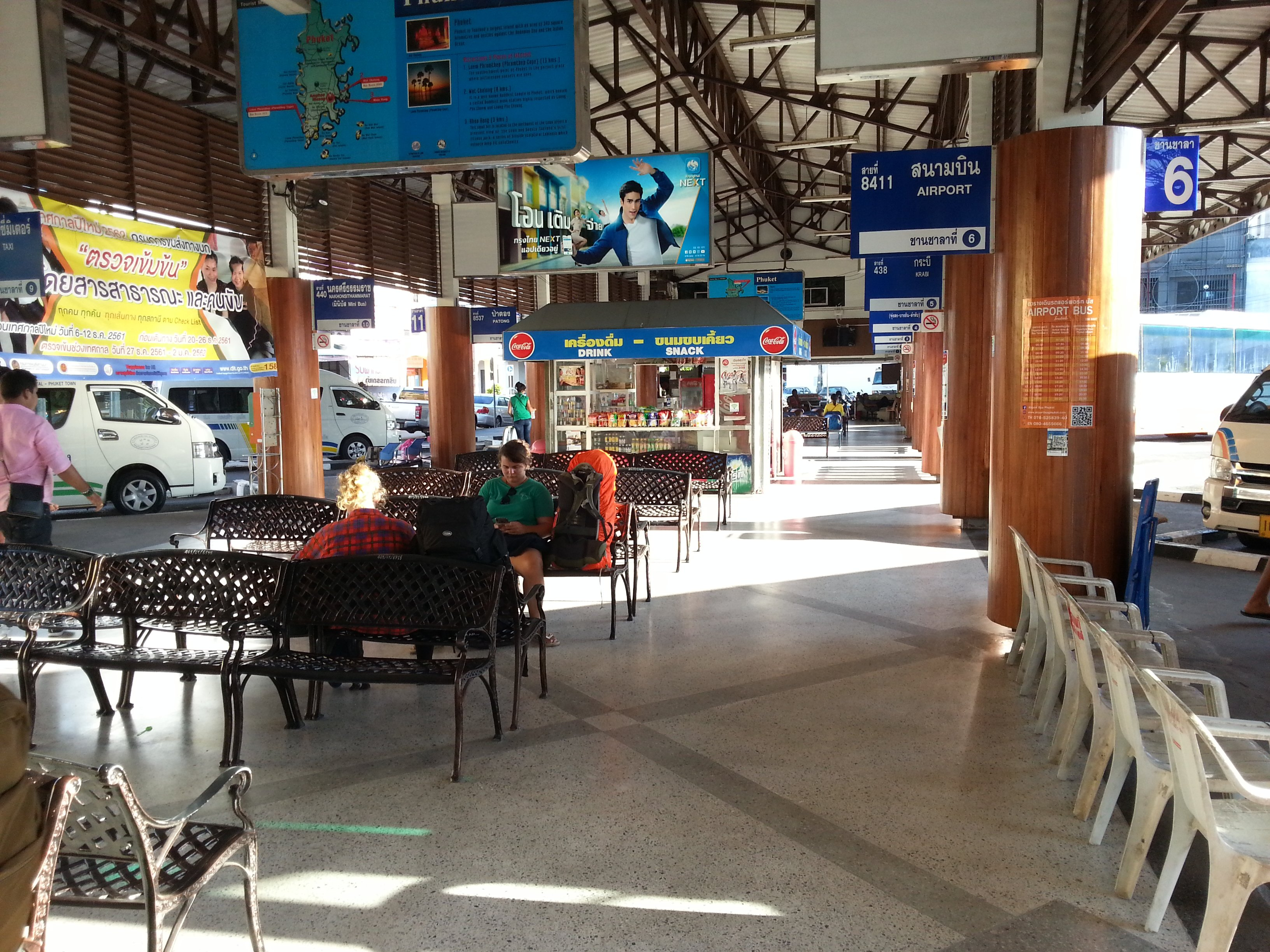 Waiting area at Phuket Bus Terminal 1