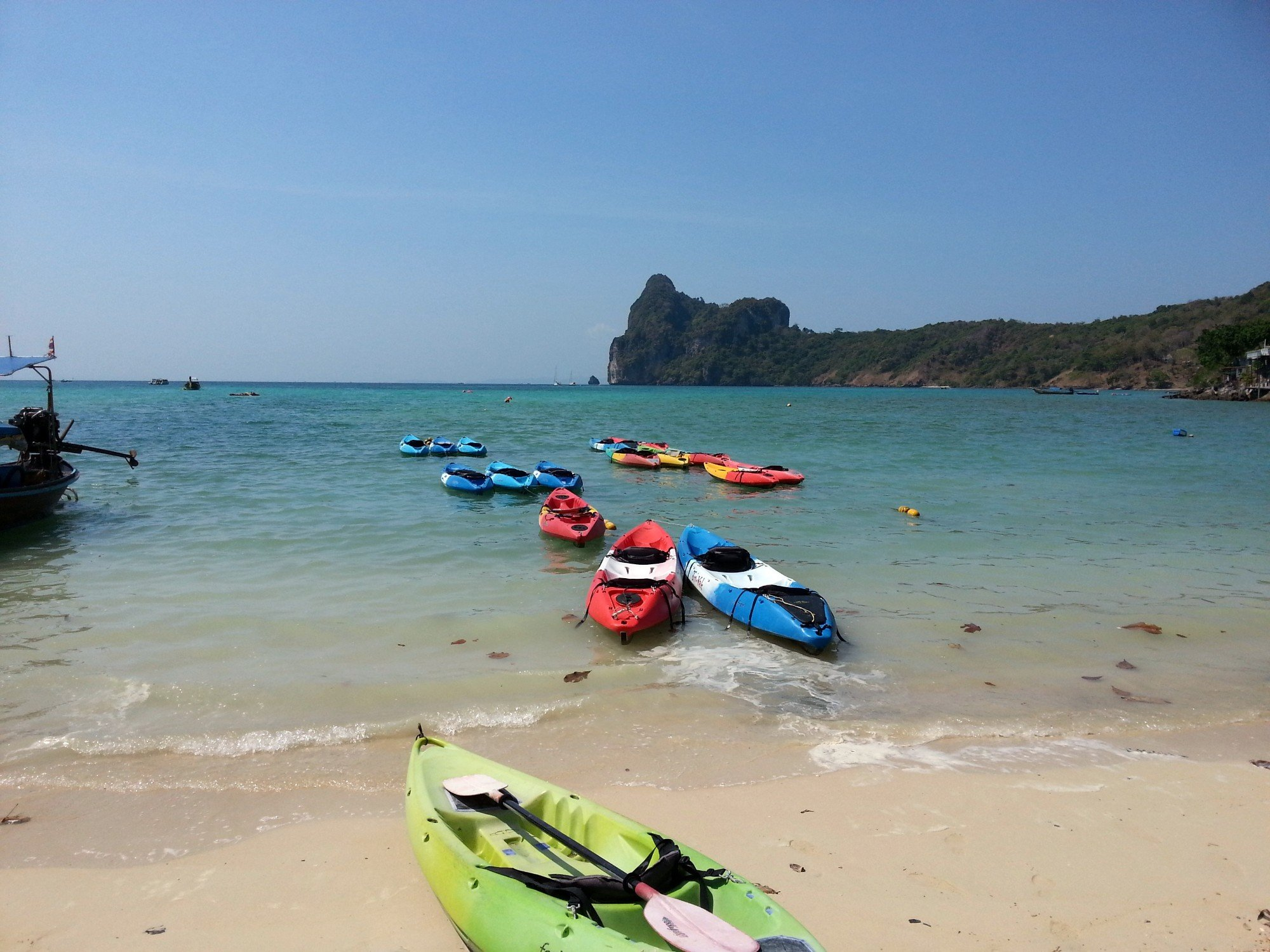Kayaks on Loh Dalum Beach