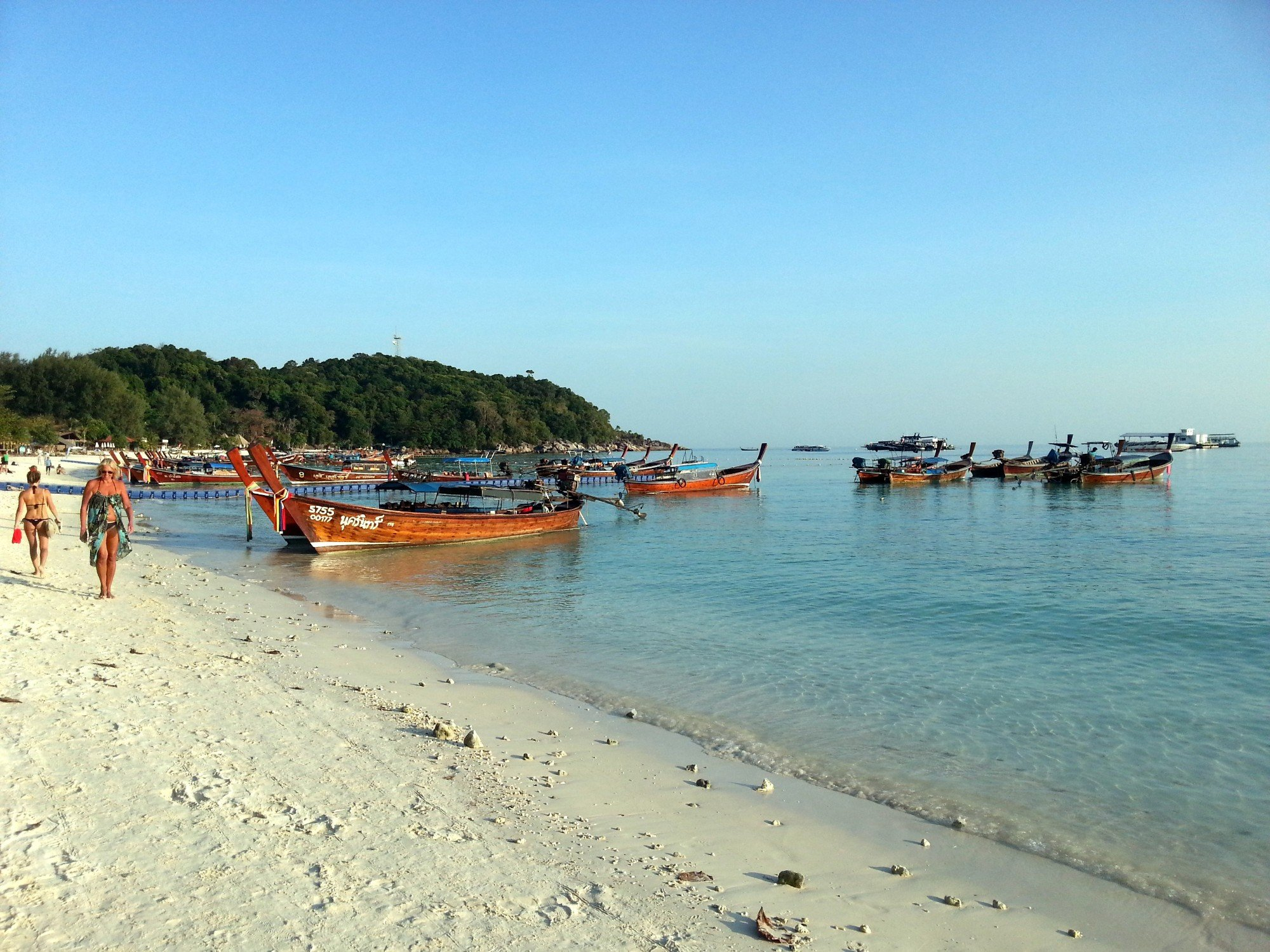 Longtail boats on Pattaya Beach
