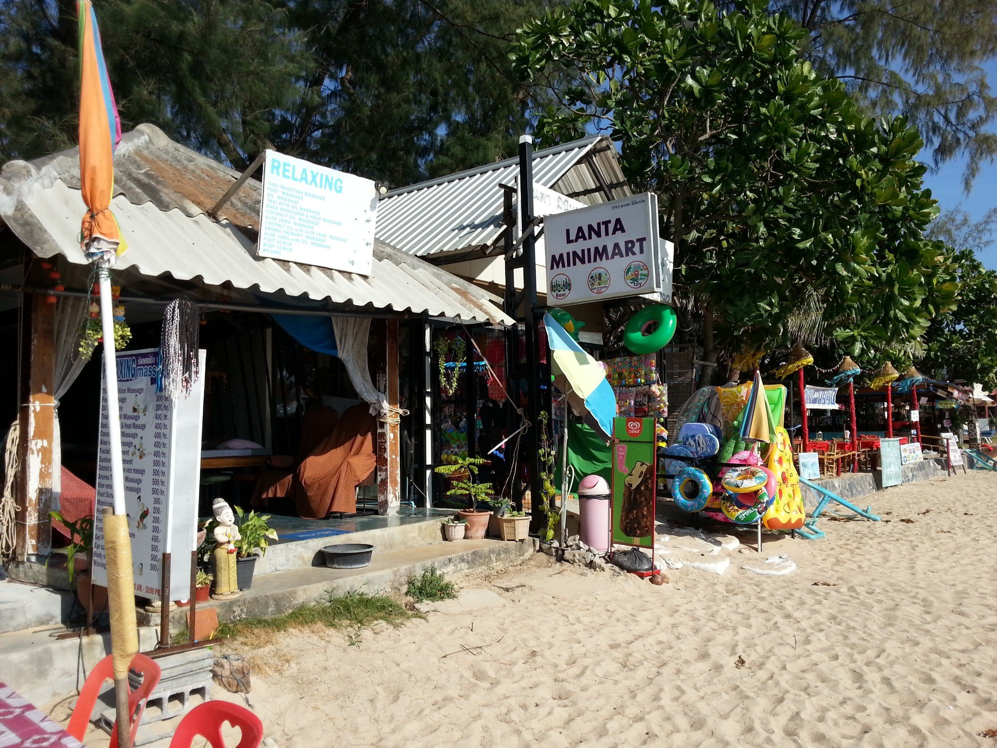 Minimart on Klong Dao Beach