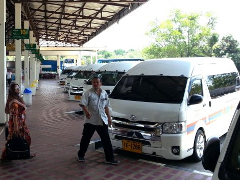 Minivan to Hat Yai at Satun Bus Station