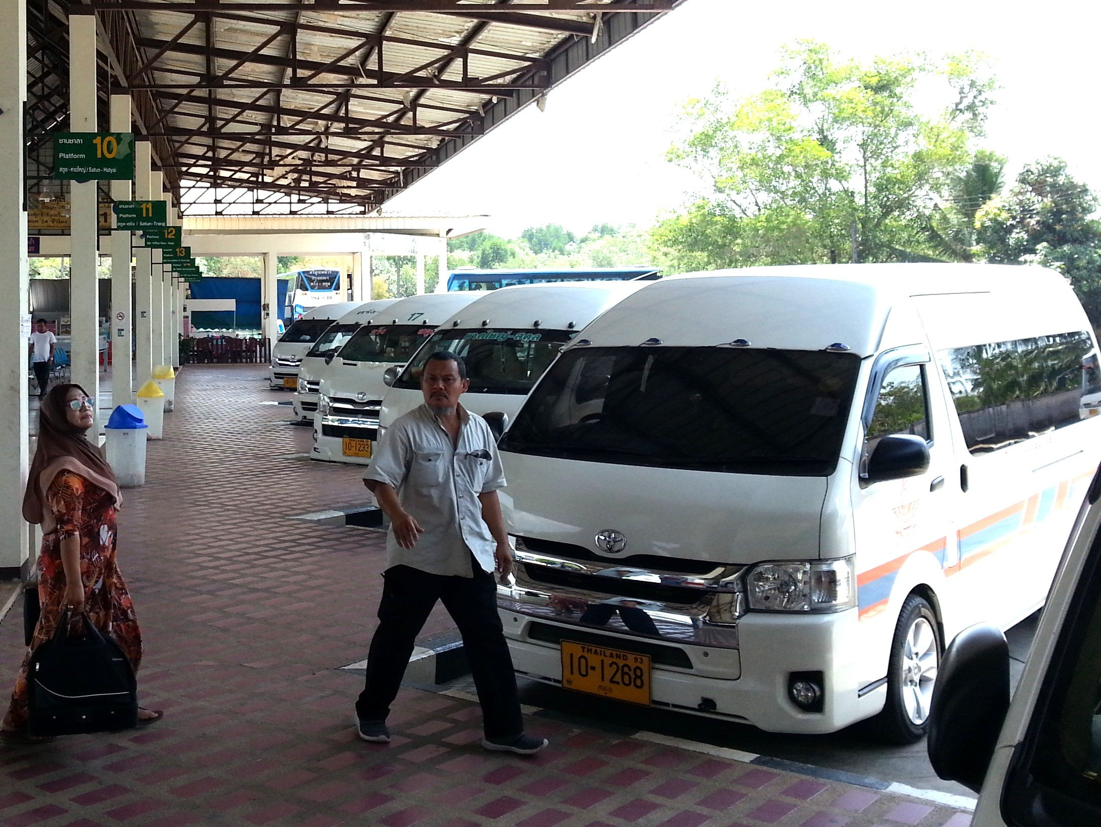 Minivan to Hat Yai at Satun Bus Station