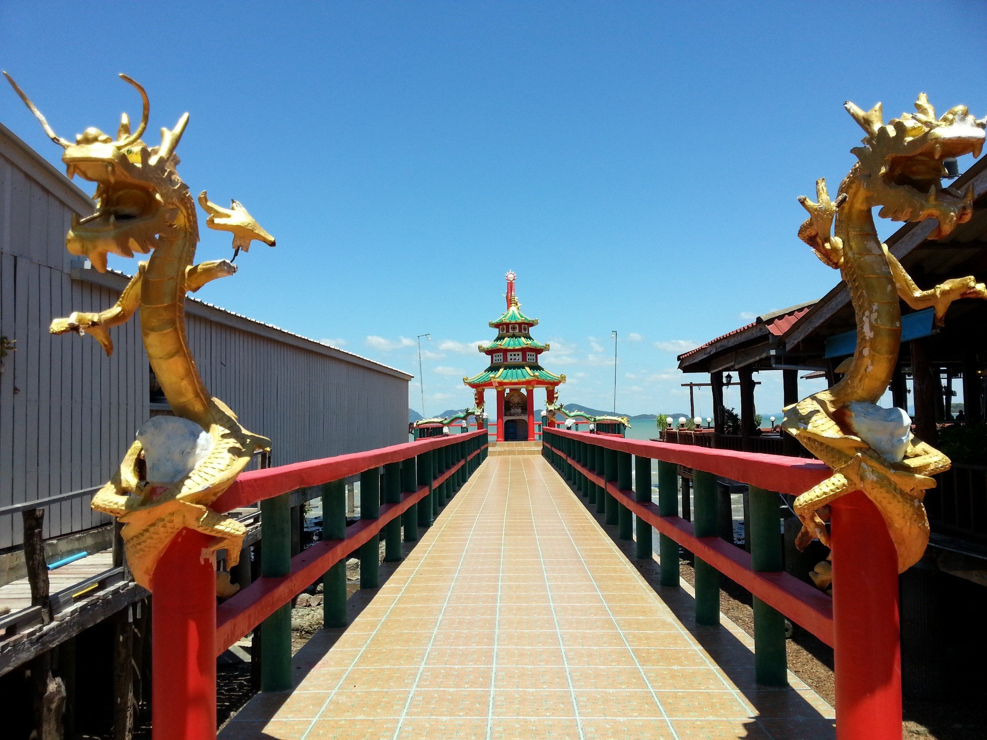 Seafront Chinese Temple in Koh Lanta Old Town