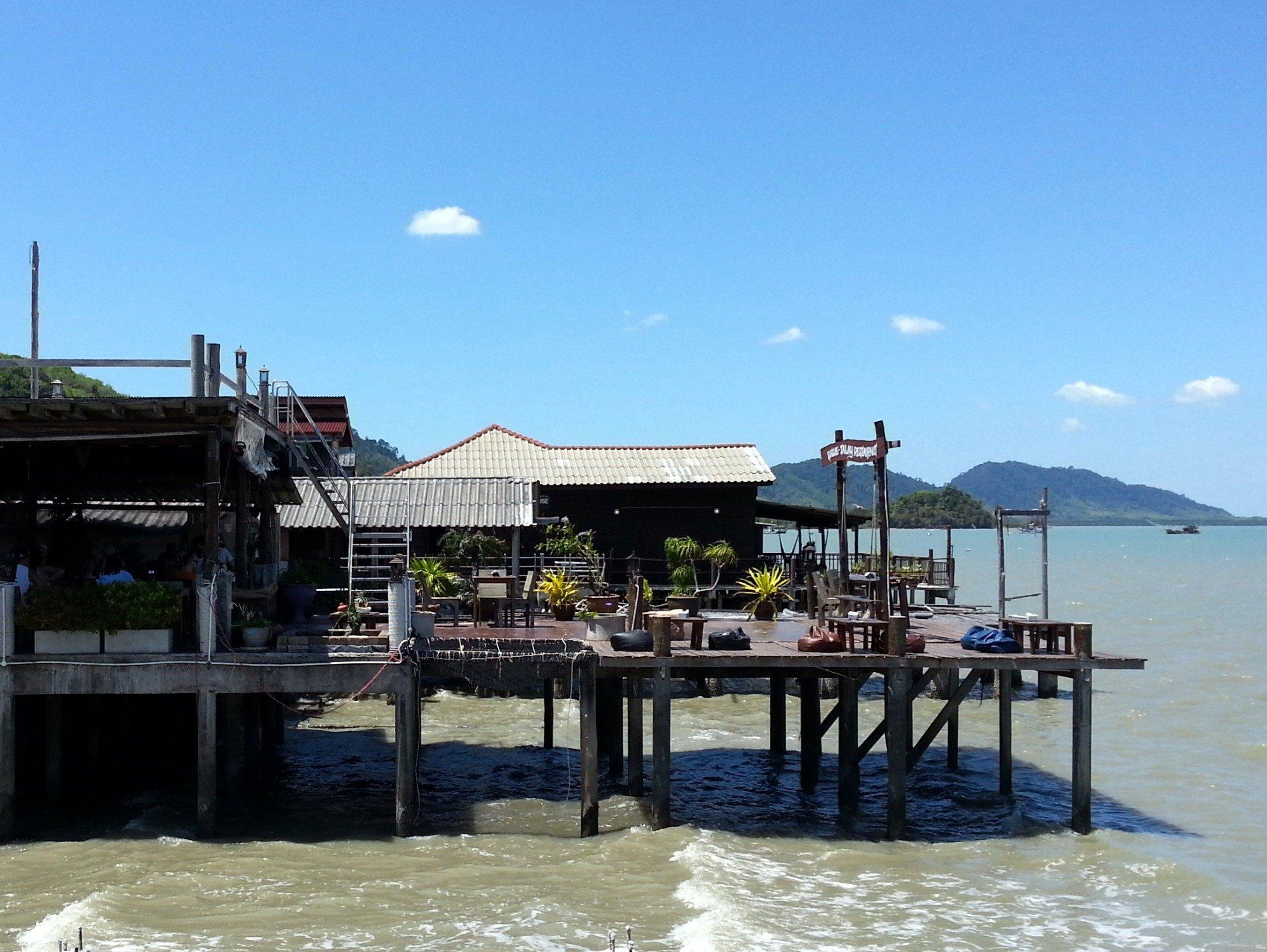 Seafront restaurant in Koh Lanta Old Town