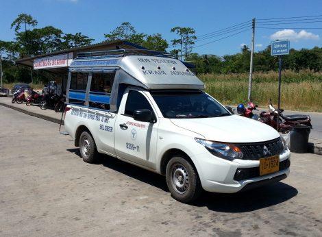 Shared taxi at Krabi Bus Terminal