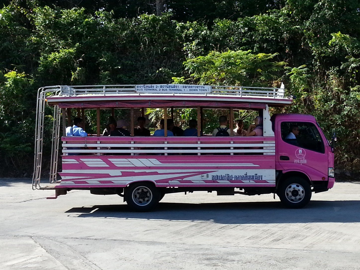 Shared taxi from Phuket Bus Terminal 2 to Phuket Bus Terminal 1