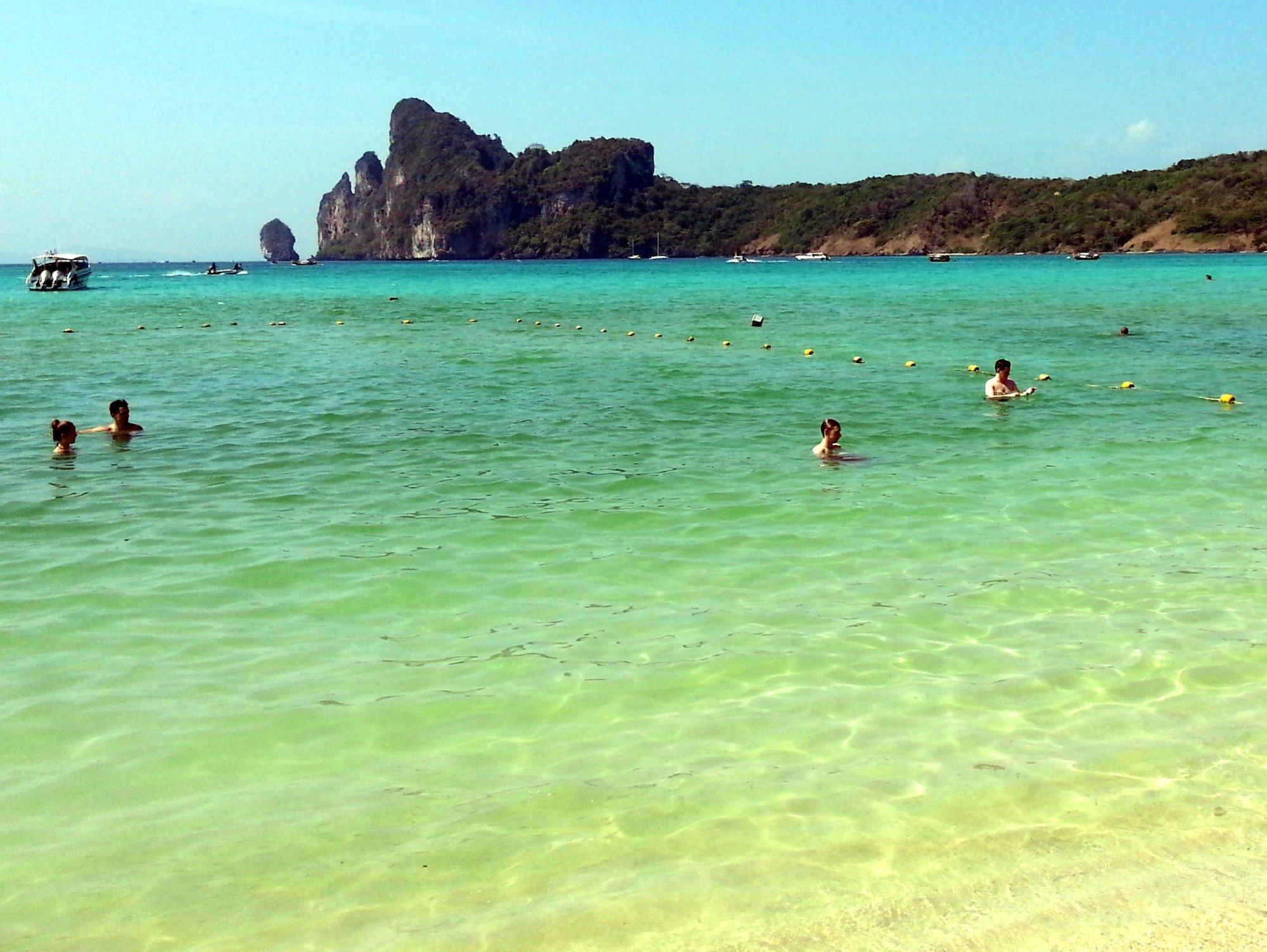 Swimmers on Loh Dalum Beach