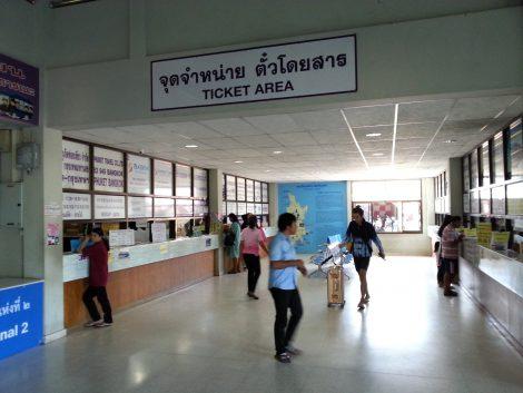 Ticket counters at Phuket Bus Terminal 2