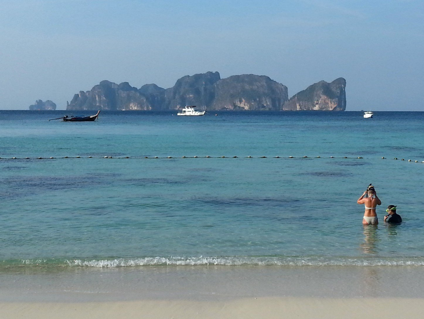 View of Koh Ph Phi Le from Long Beach