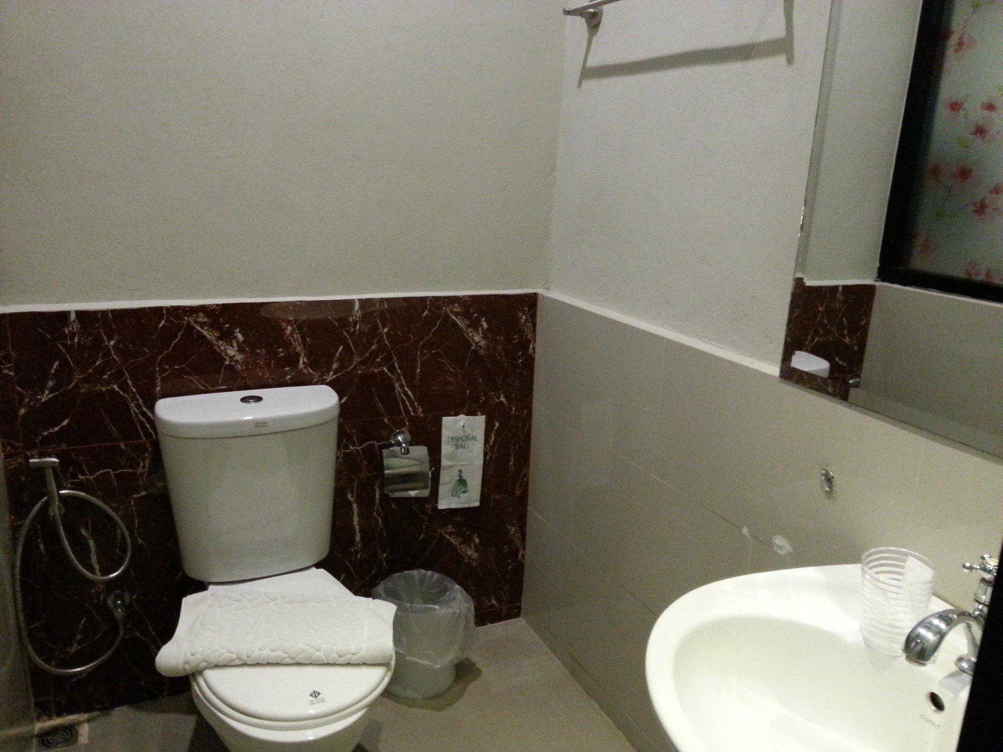 Bathroom at the V Hotel Vajira
