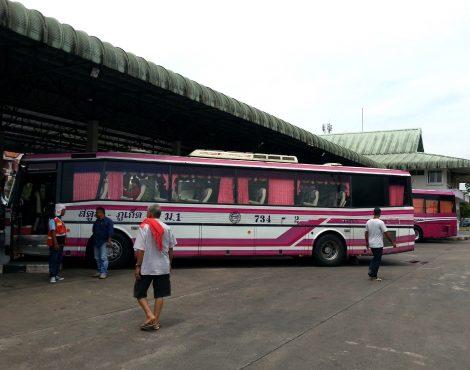 Bus services at Trang Bus Terminal