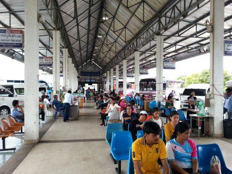 Inside Trang Bus Terminal