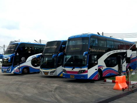 Long distance buses at Songkhla Bus Terminal