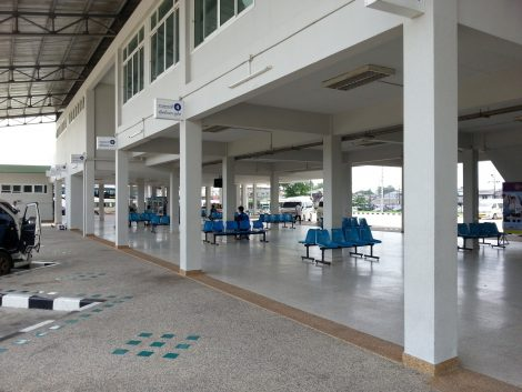 Waiting area at Songkhla Bus Terminal
