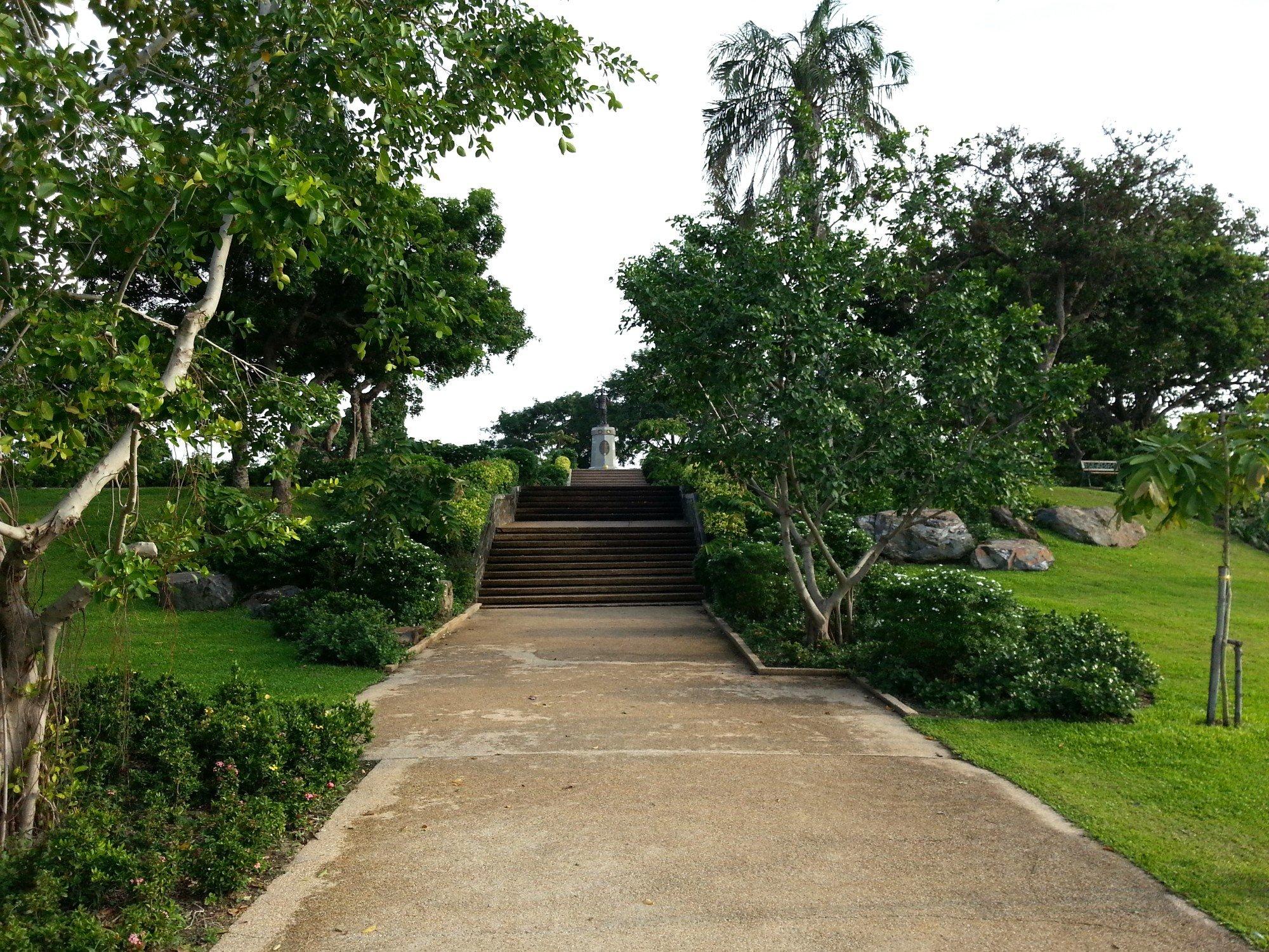 Garden at the Krom Luang Lopburi Ramet Monument