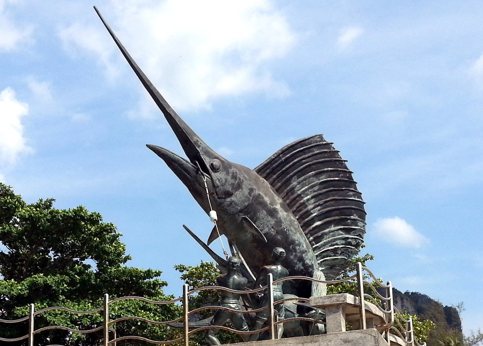 'bplaa len reua' is Thai word for sailfish