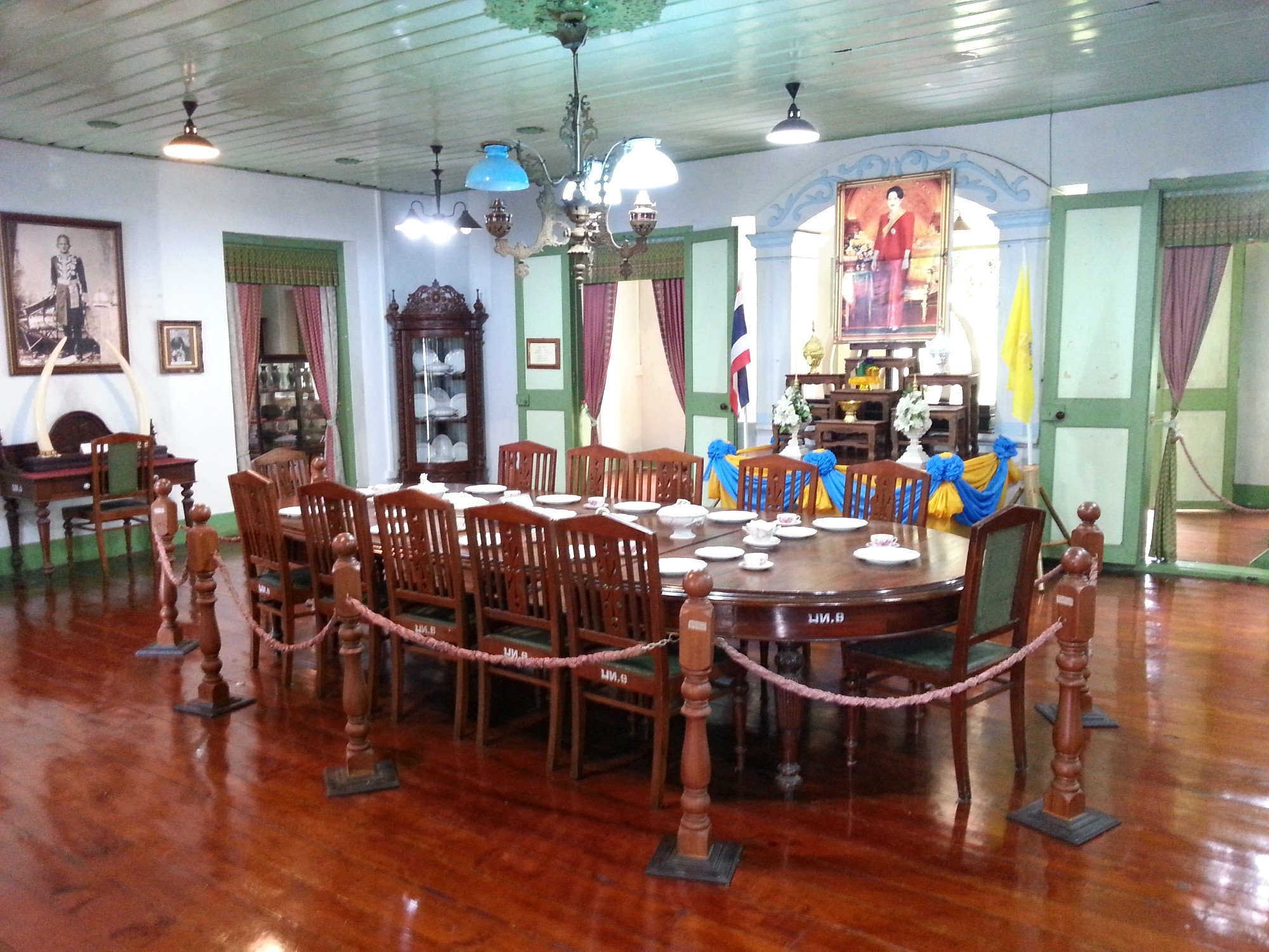 Dining room at the Khum Chao Luang Museum
