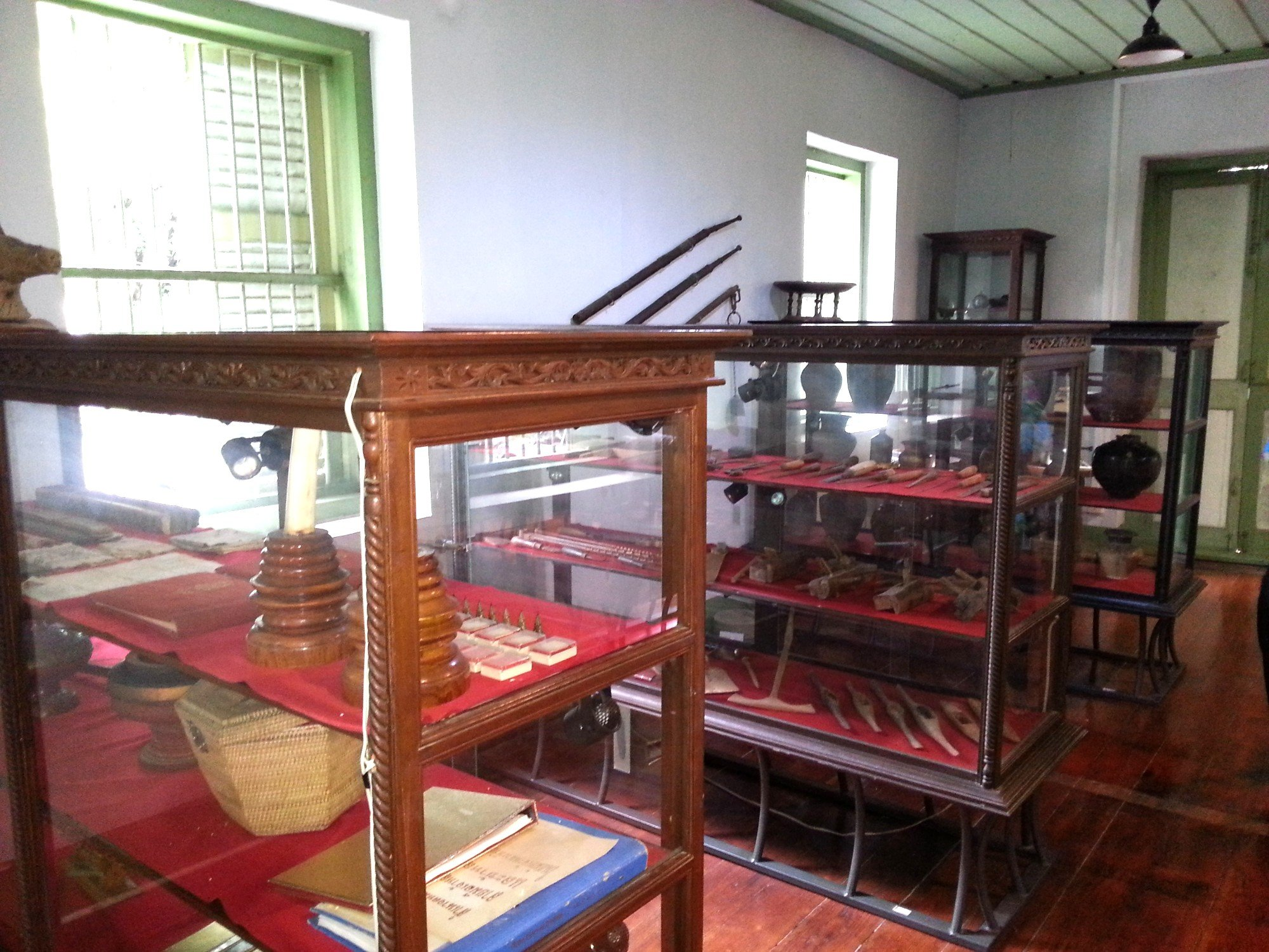 Display cabinets at the Khum Chao Luang Museum