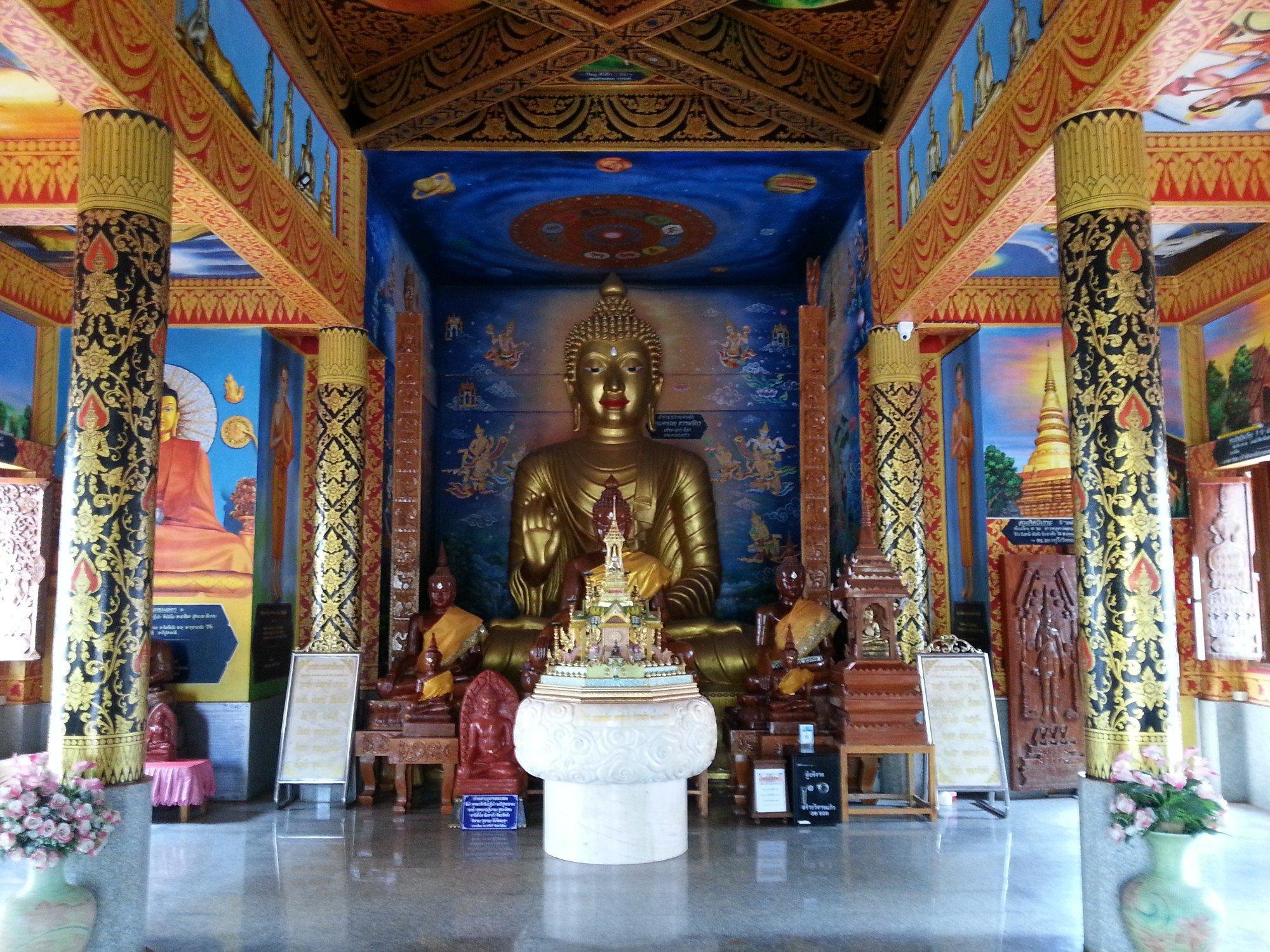 Inside the Assembly Hall at Wat Phong Sunan