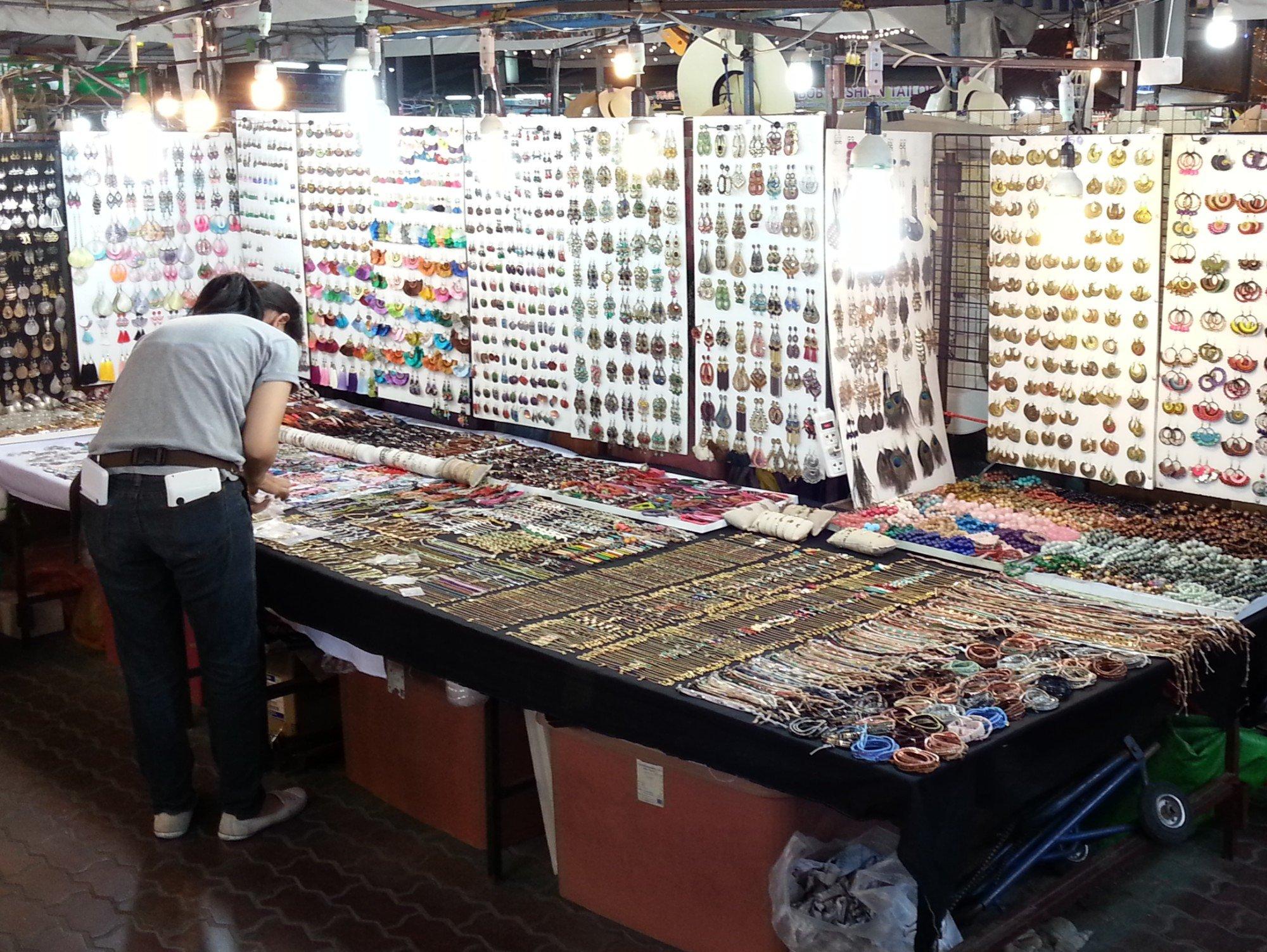 Jewellery Stall at Anusarn Market