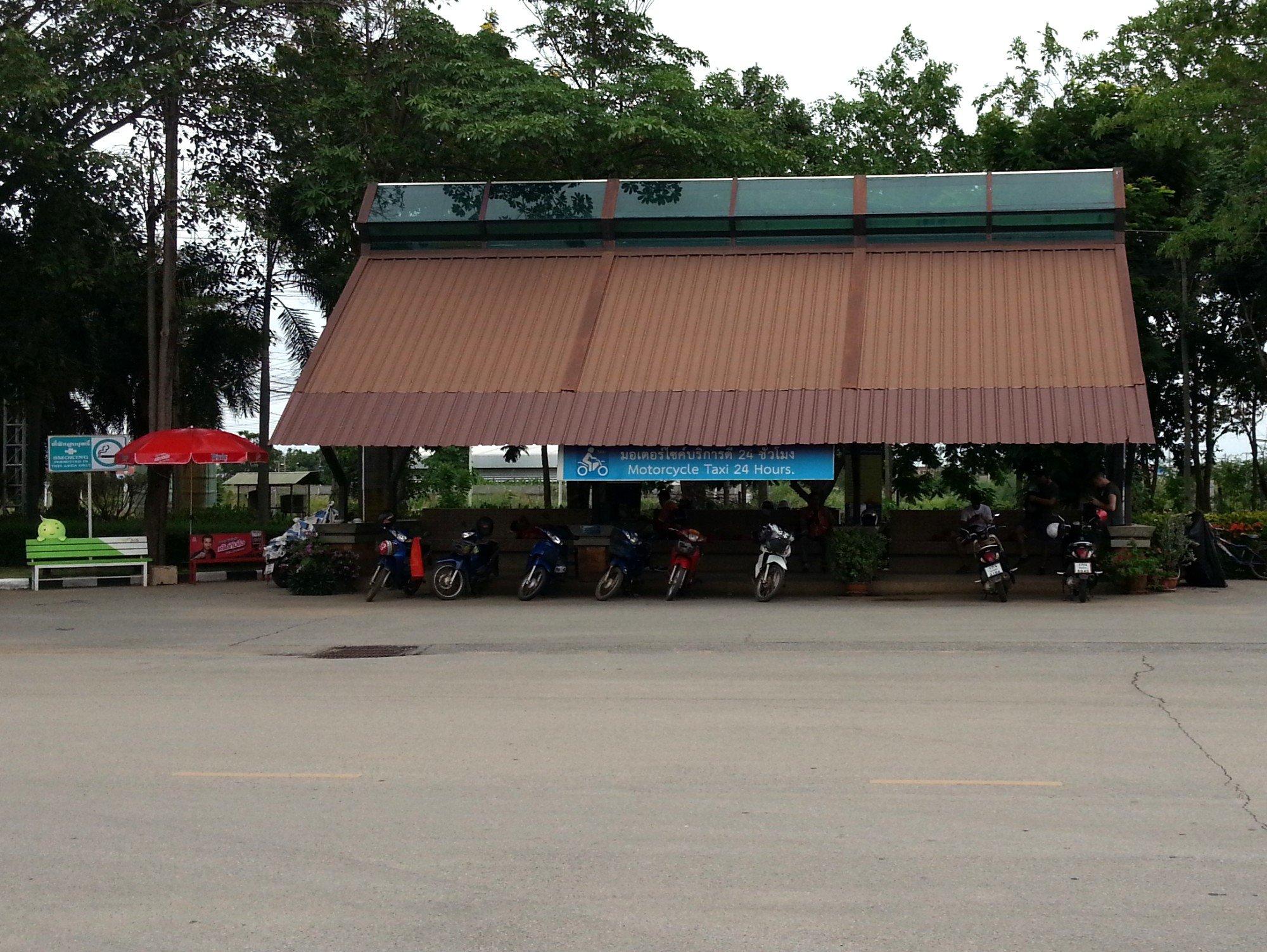 Motorbike taxi rank at Sukhothai Bus Terminal