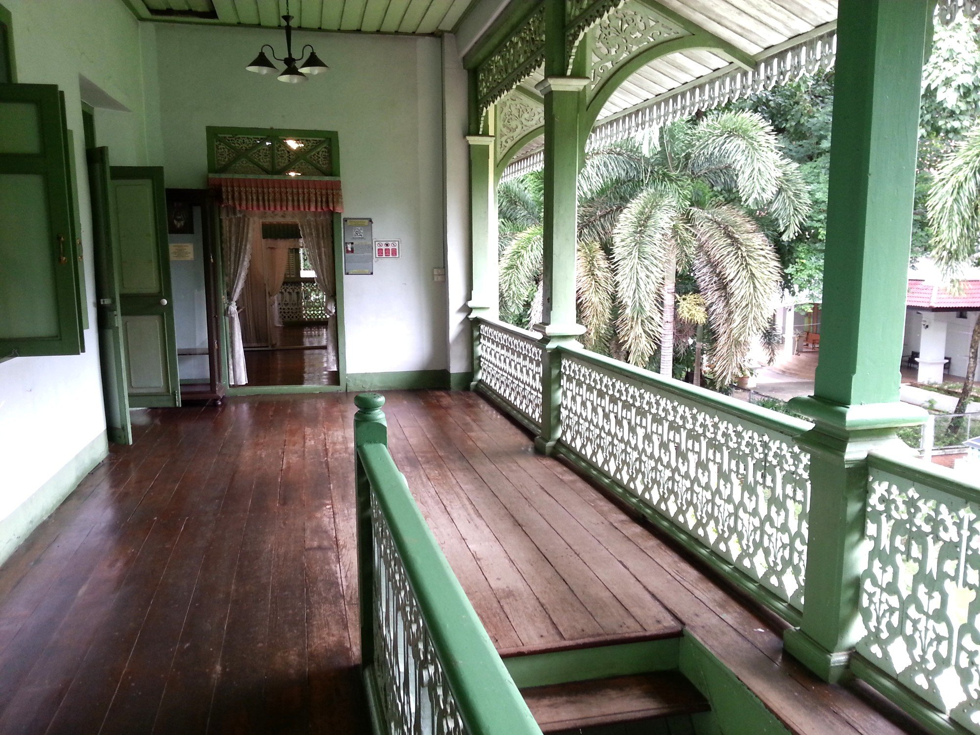Upstairs balcony at the Khum Chao Luang Museum