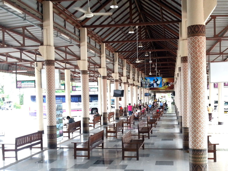 Waiting area at Sukhothai Bus Terminal