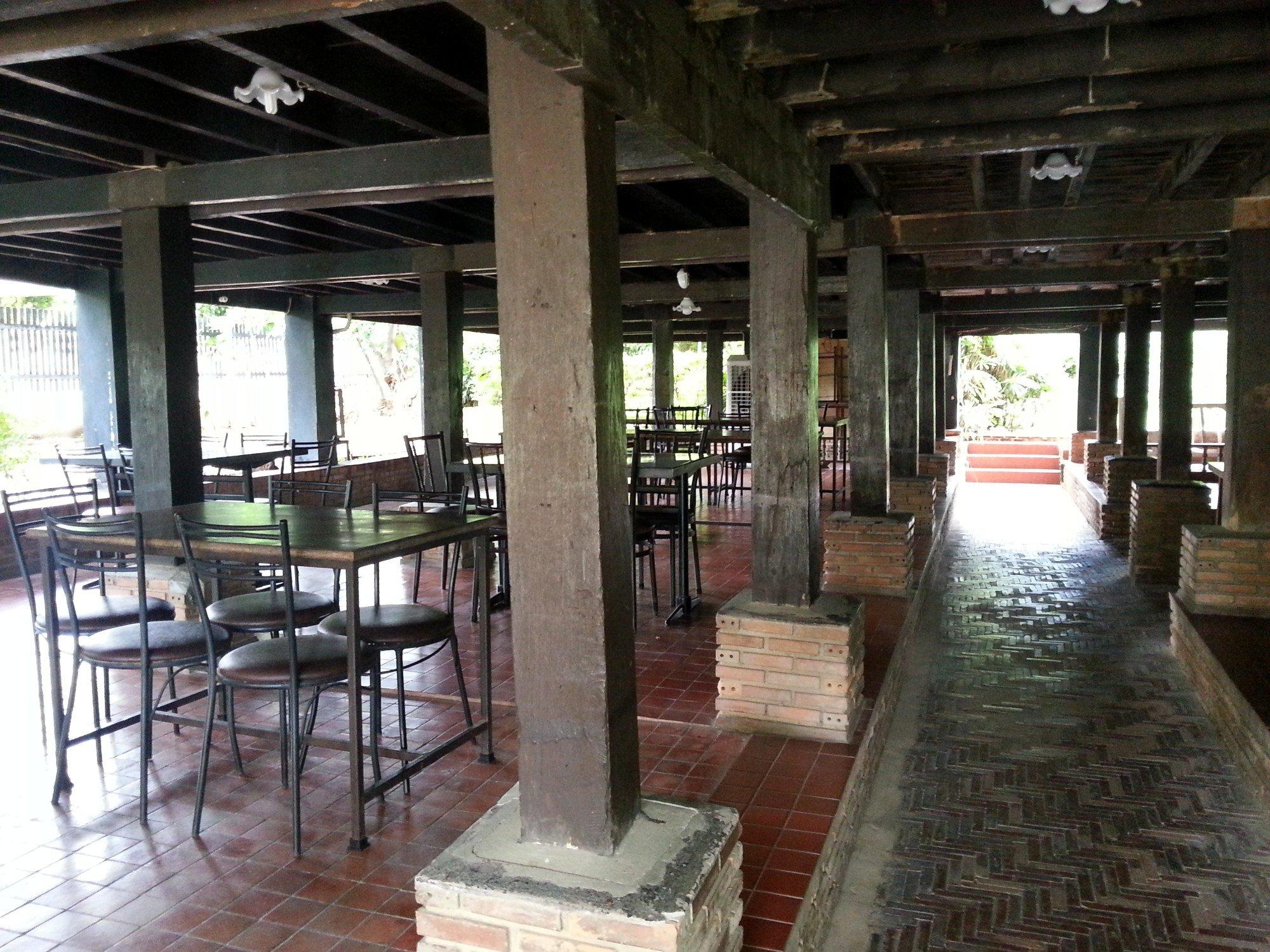 116 teak wood pillars support Baan Sao Nak