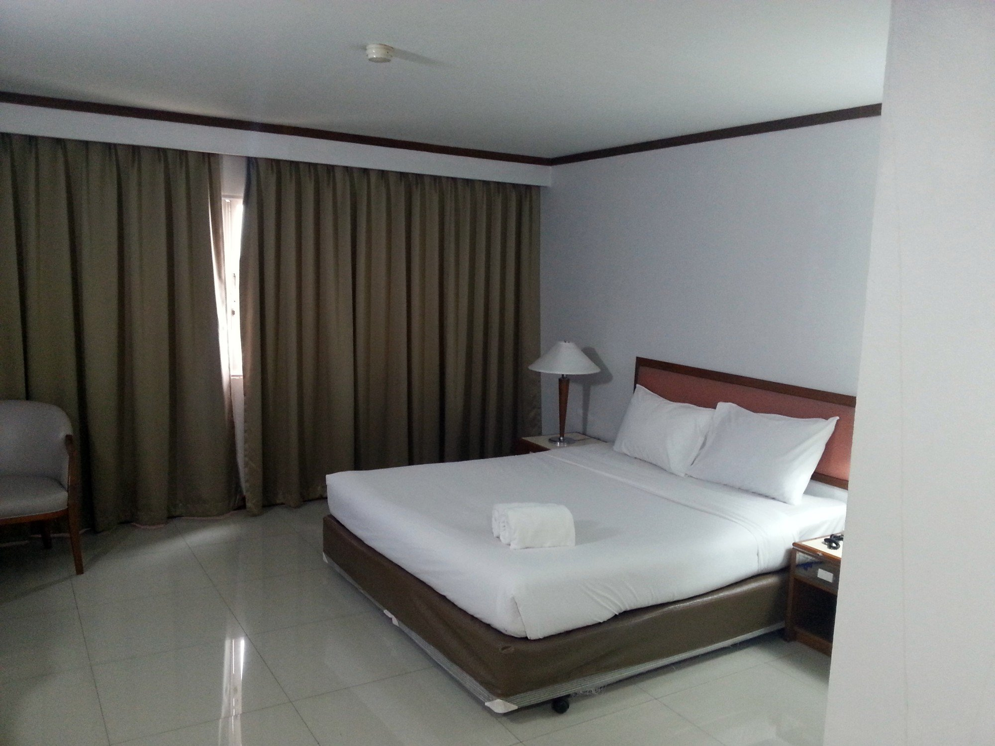 Bed at the Friday Hotel