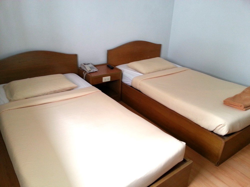 Beds at the U-Thong Hotel