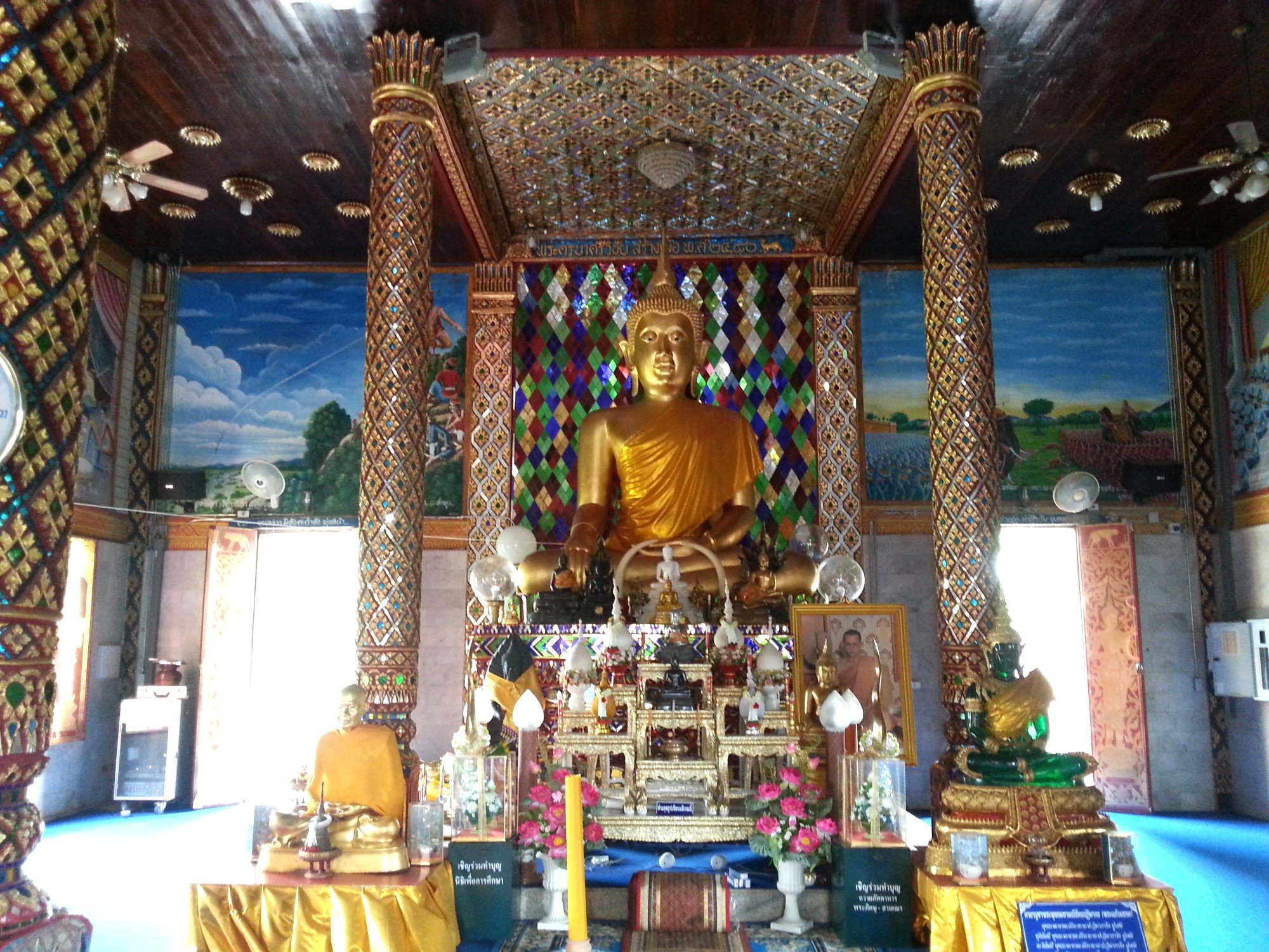 Inside the Assembly Hall at Wat Chammathewi