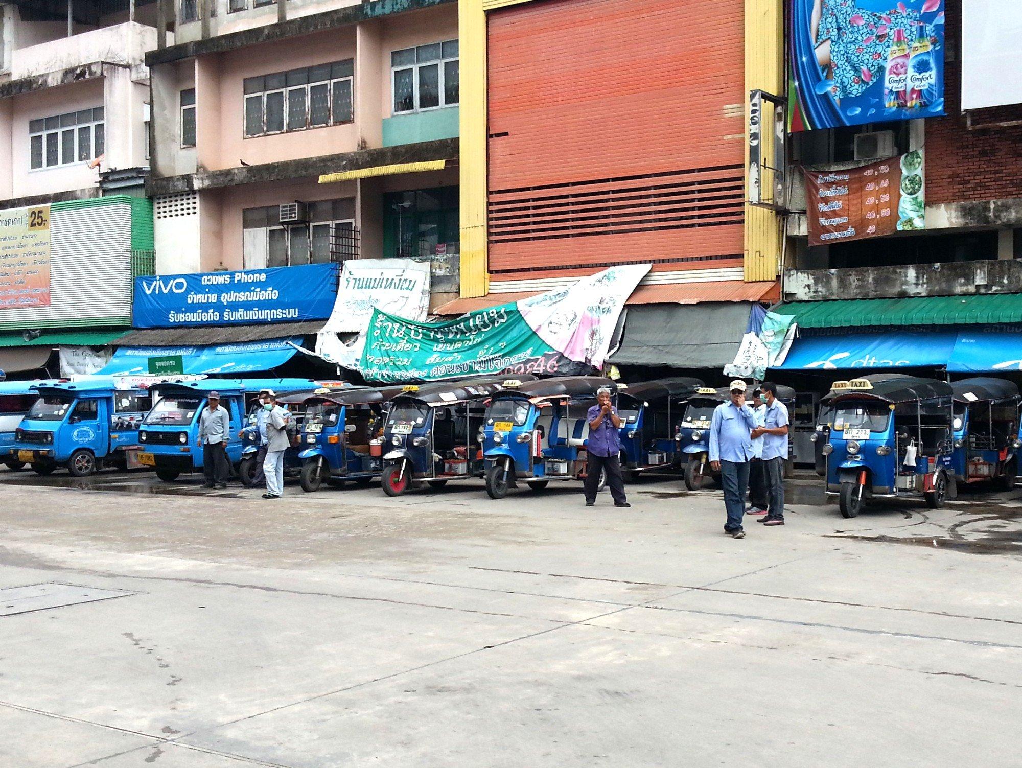 Local transport at Chiang Rai Bus Terminal 1